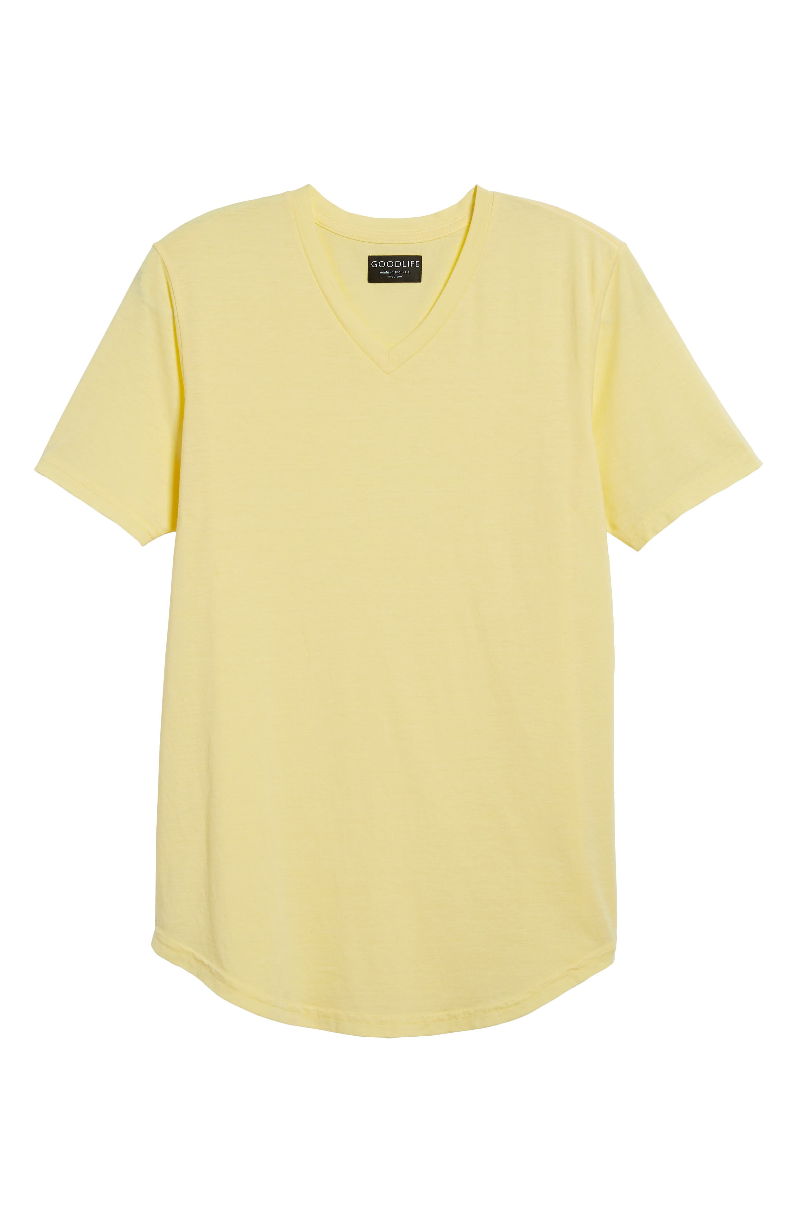 Scallop Triblend V-Neck T-Shirt,                             Alternate thumbnail 129, color,