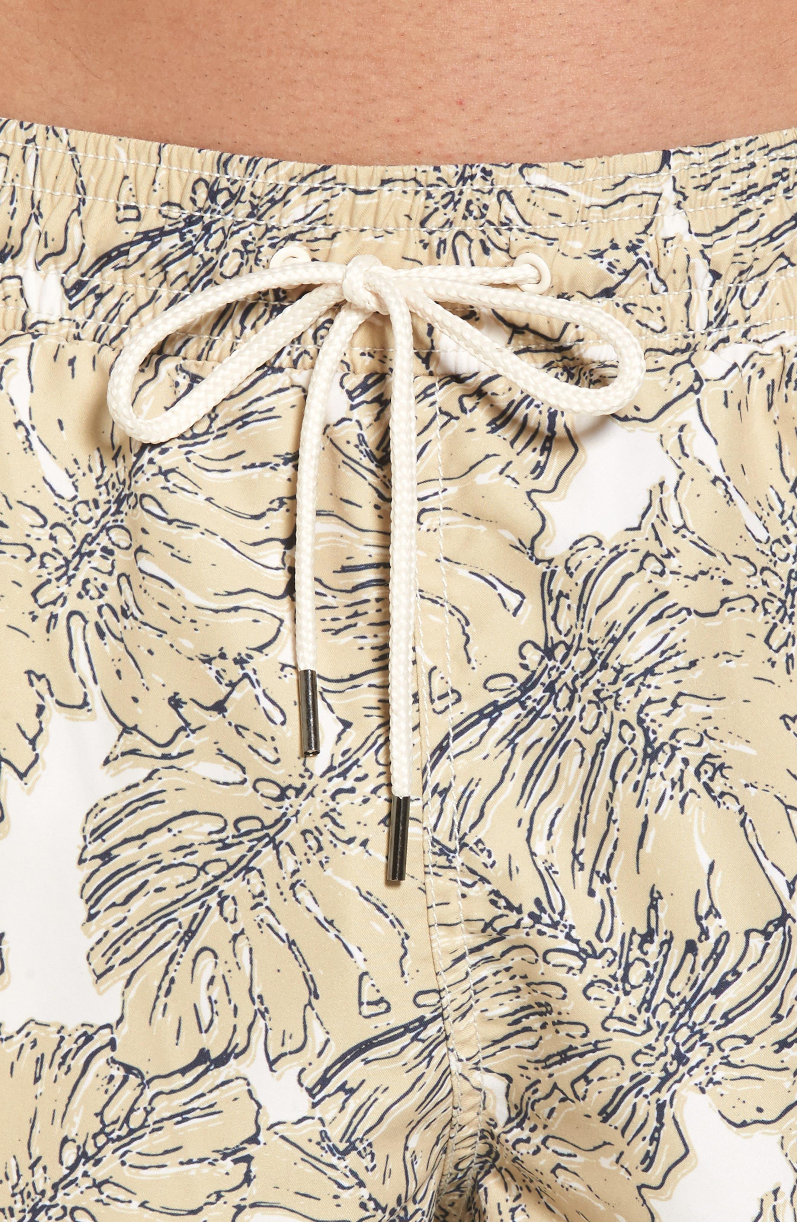 Split Leaf Swim Trunks,                             Alternate thumbnail 4, color,                             900