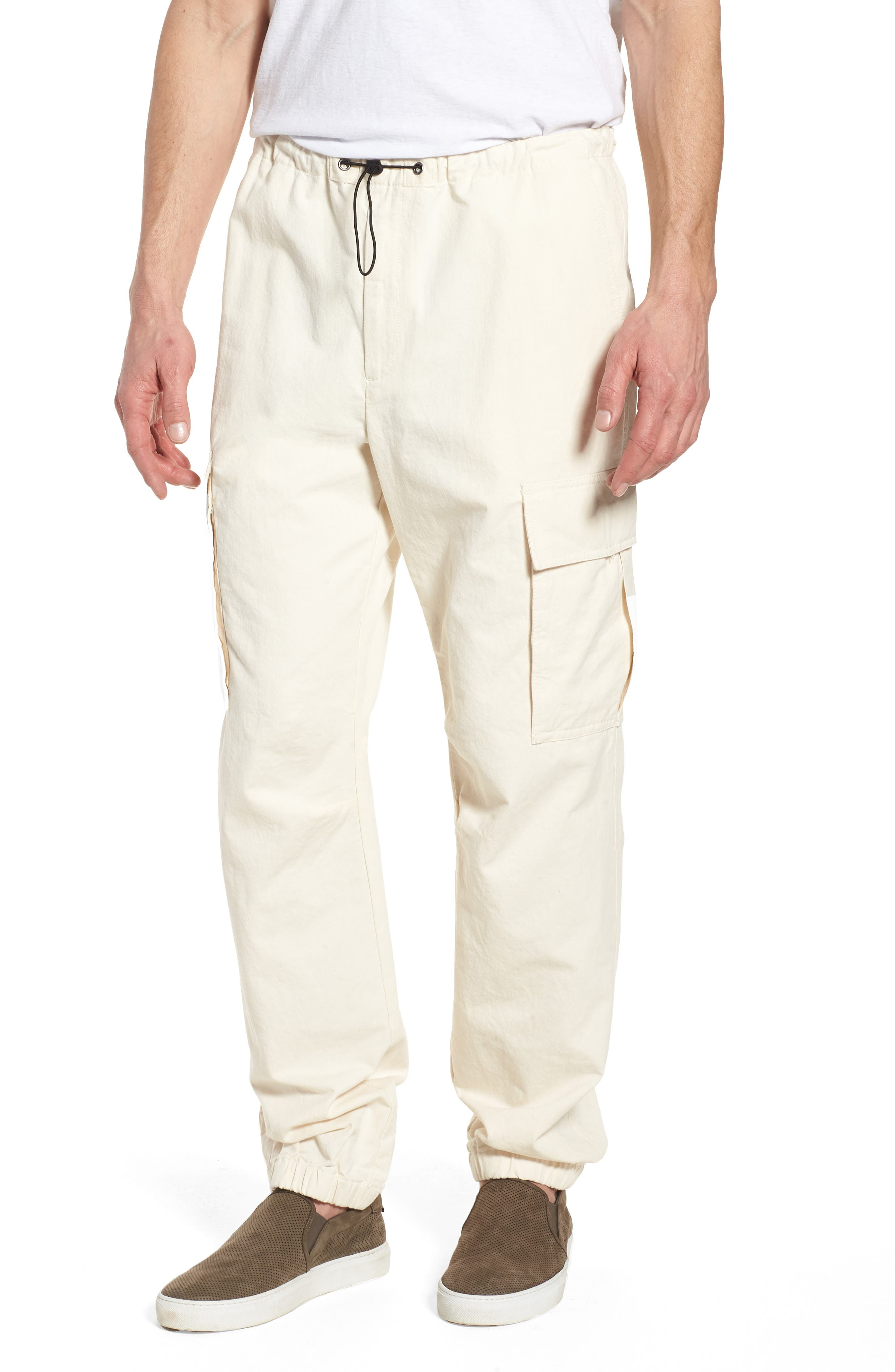 JAMES PERSE Cargo Pants, Main, color, IVORY