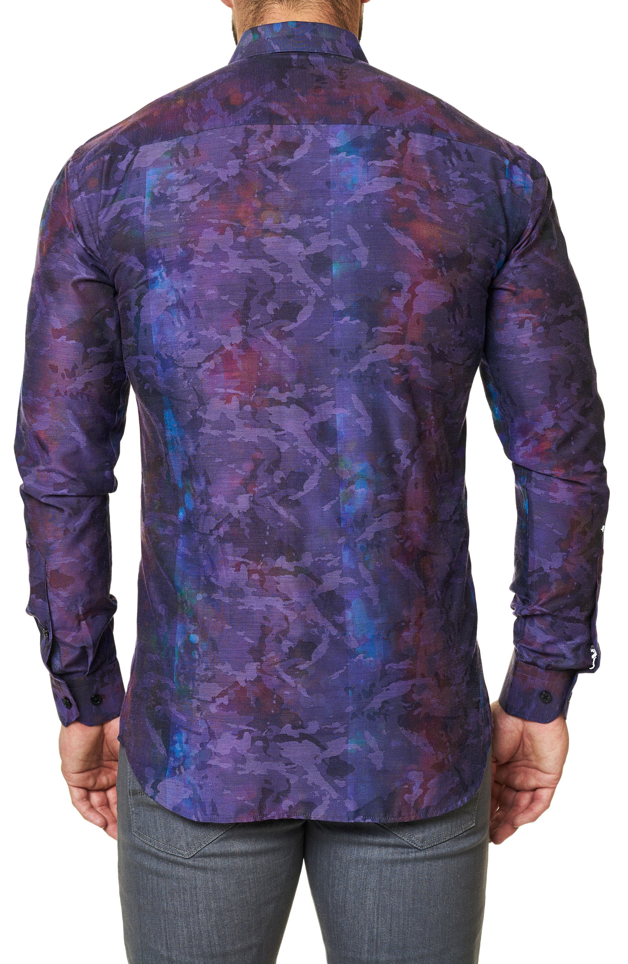 Trim Fit Print Sport Shirt,                             Alternate thumbnail 2, color,                             509