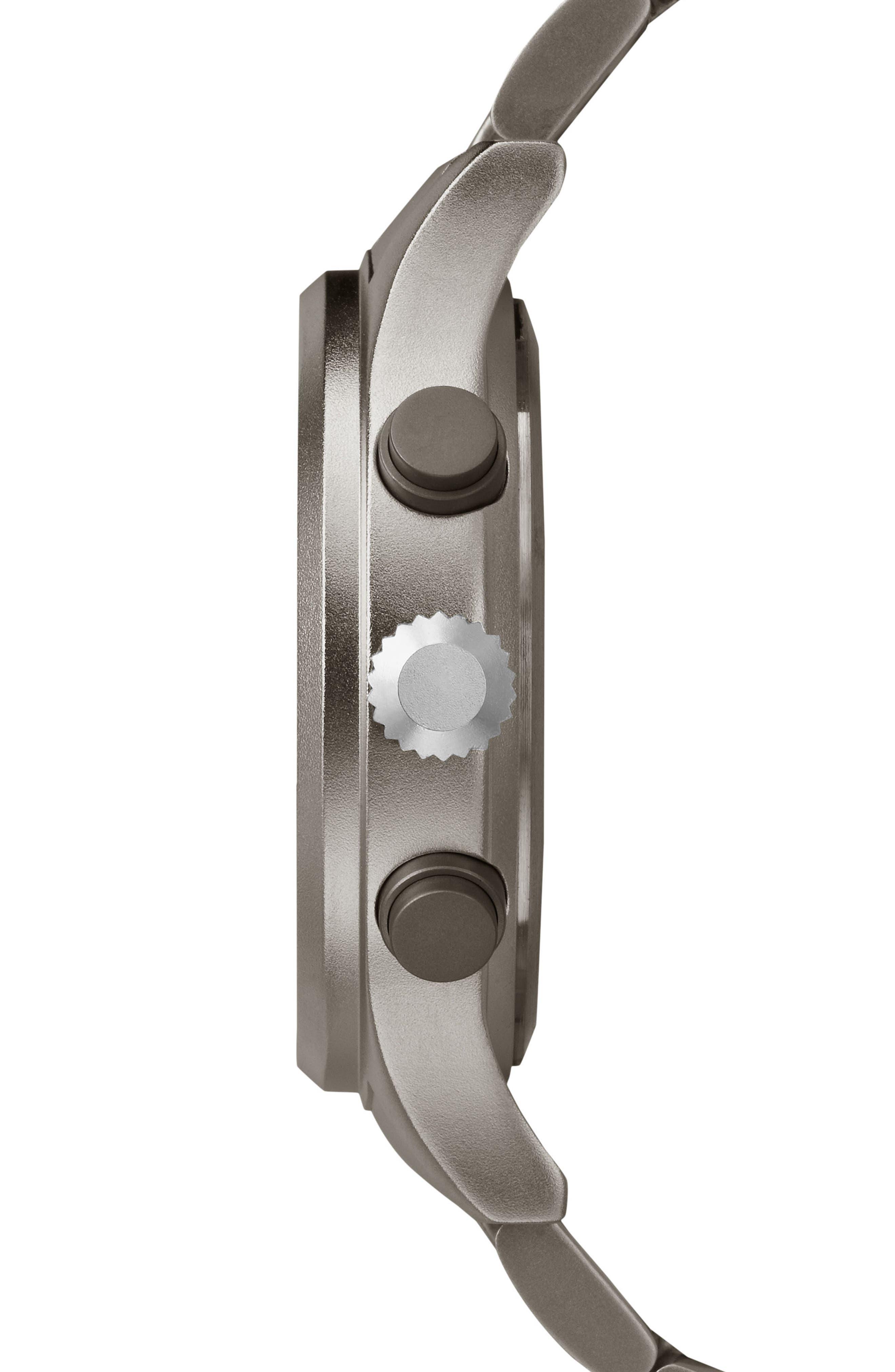Allied Chronograph Bracelet Watch, 42mm,                             Alternate thumbnail 3, color,                             GREY/ BLACK/ GREY