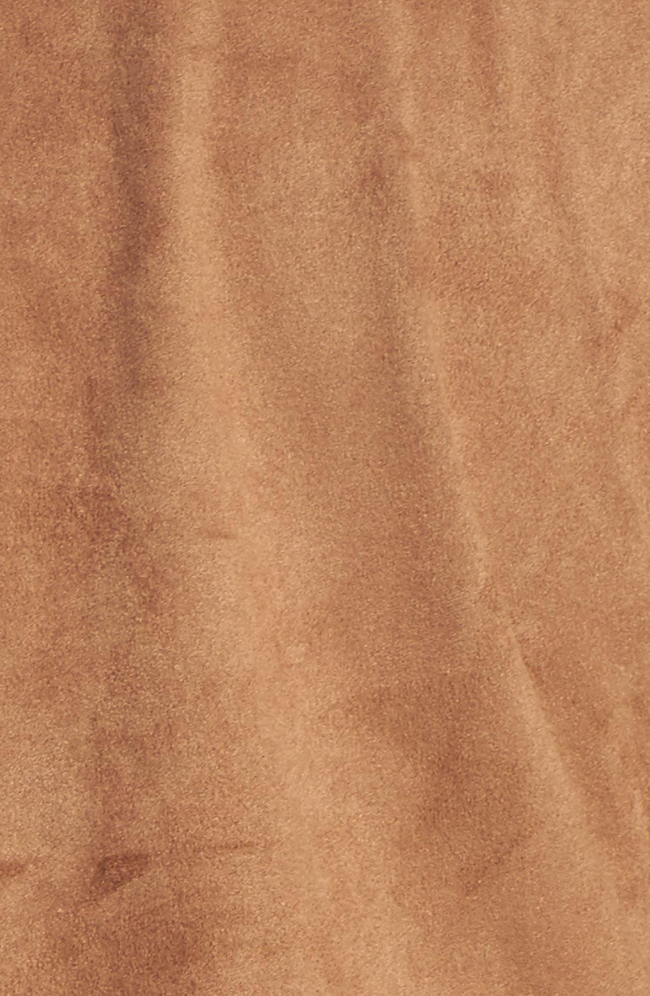 Jena Faux Suede Shirt,                             Alternate thumbnail 5, color,                             CAMEL