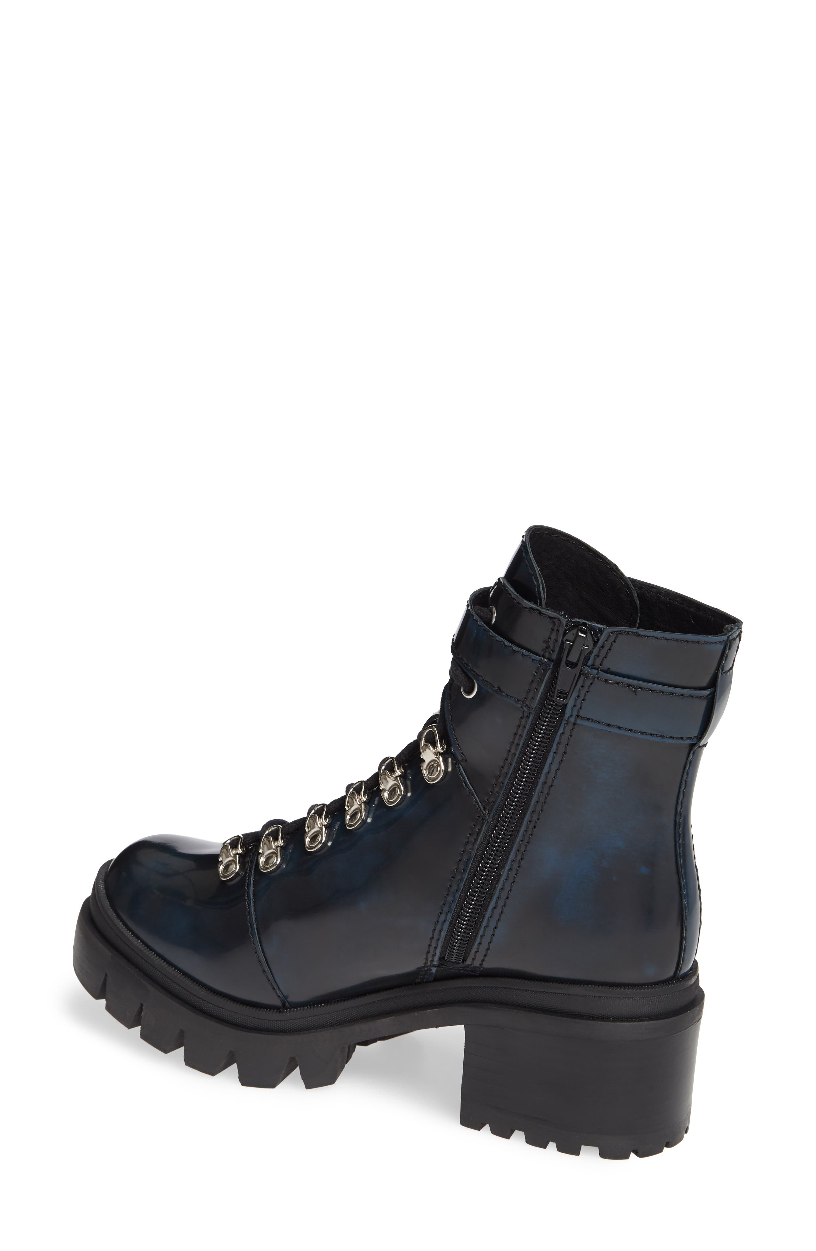 Czech Lace-Up Boot,                             Alternate thumbnail 2, color,                             NAVY LEATHER