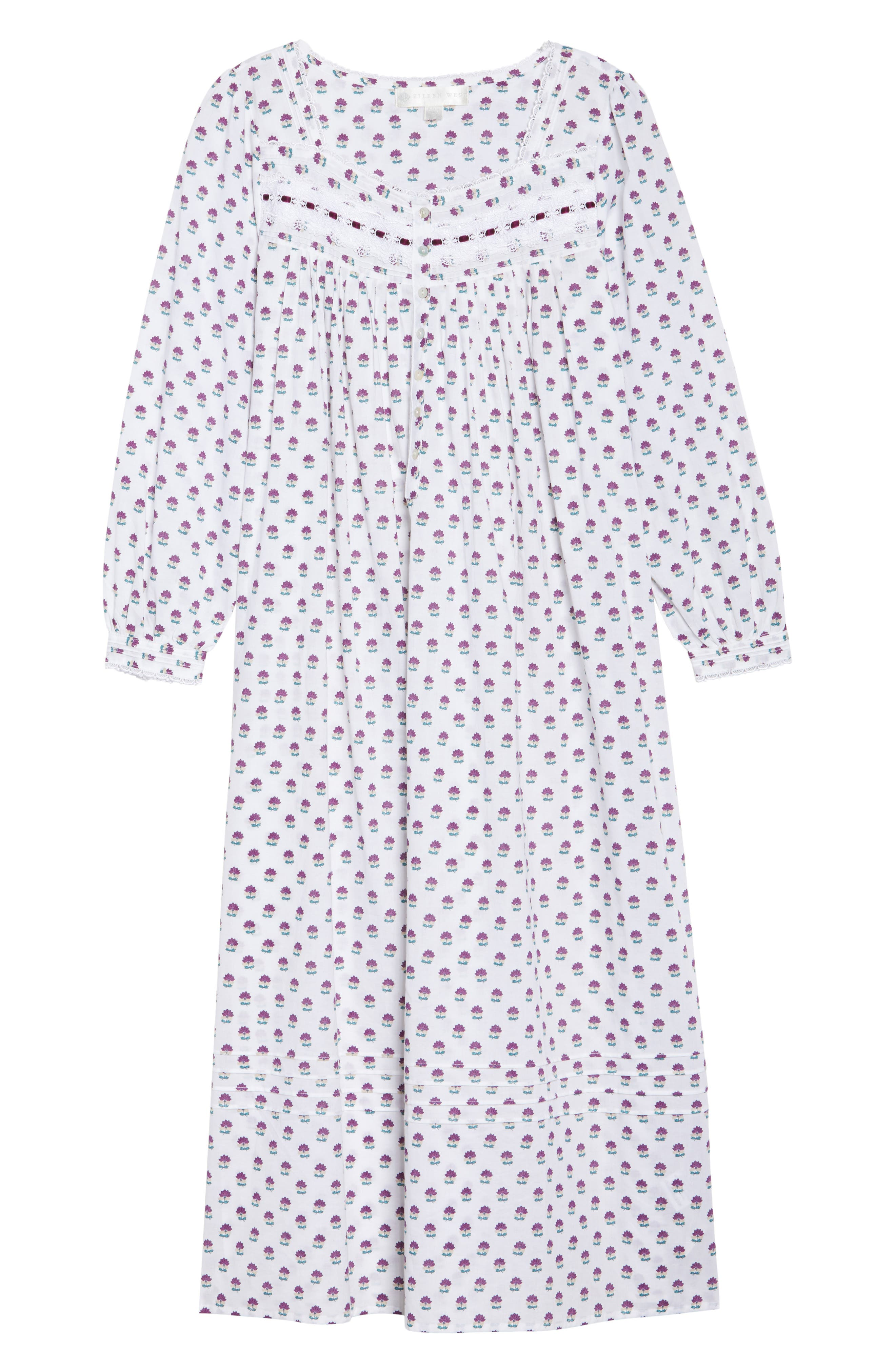 Ballet Flannel Nightgown,                             Alternate thumbnail 11, color,