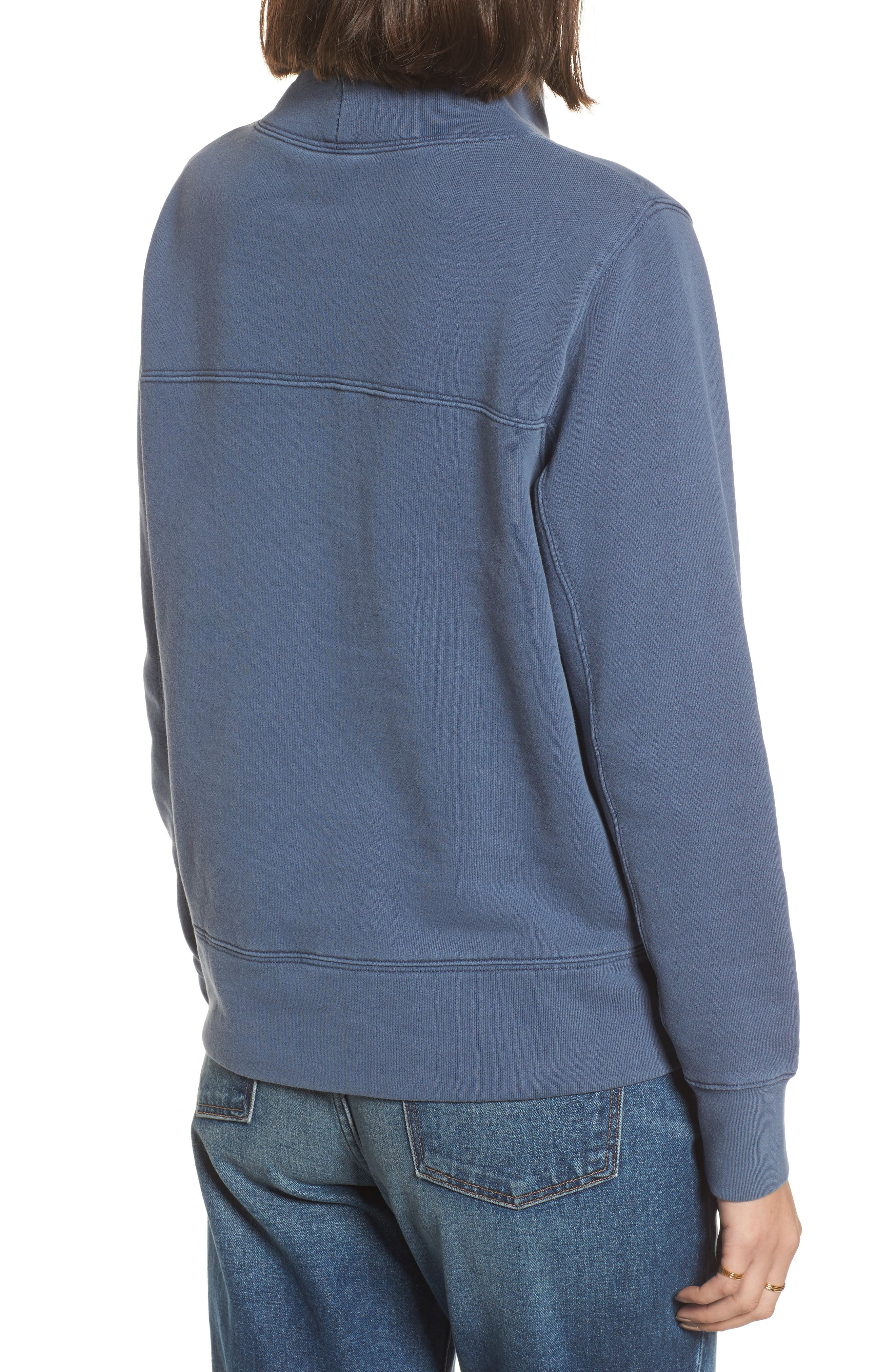 Garment Dyed Funnel Neck Sweatshirt,                             Alternate thumbnail 6, color,