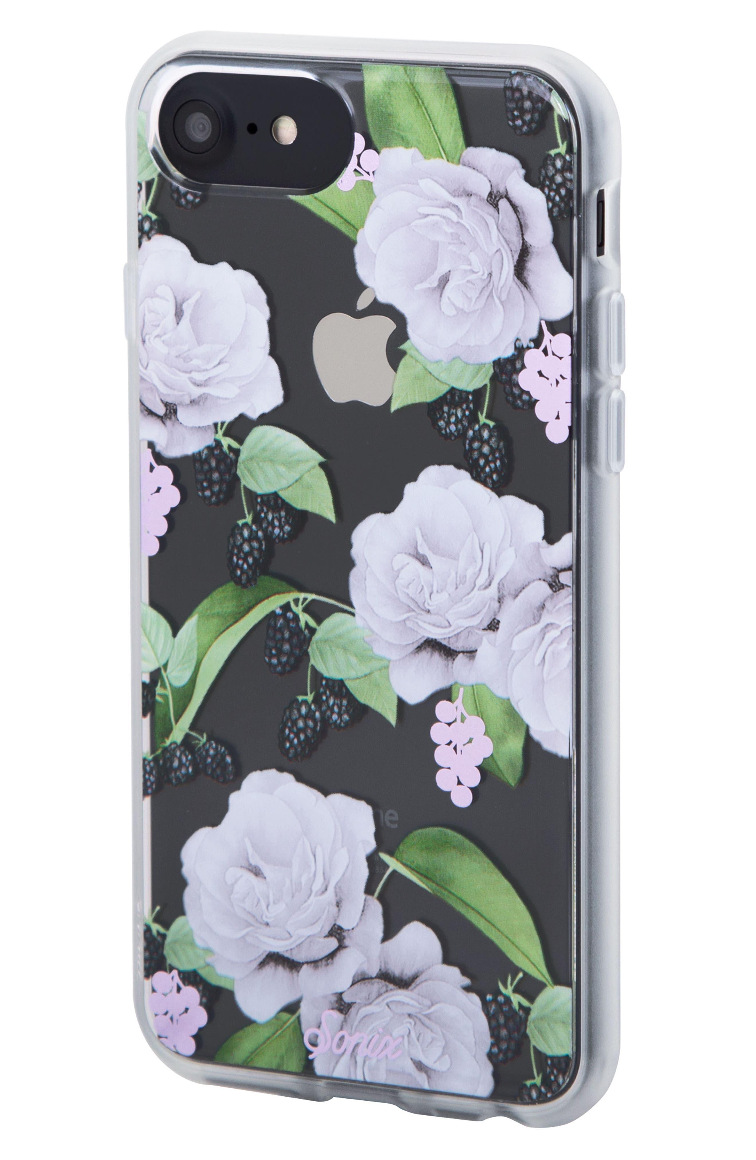 Floral Berry iPhone 6/6s/7/8 & 6/6s/7/8 Plus Case,                             Alternate thumbnail 2, color,                             WHITE/ LILAC