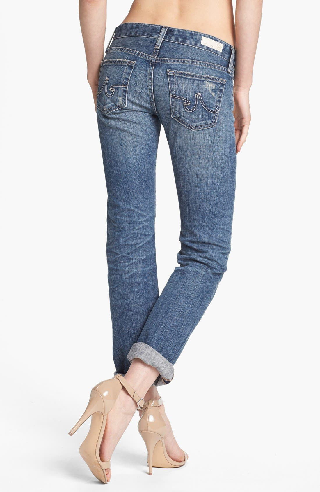 'The Tomboy' Relaxed Straight Leg Jeans,                             Alternate thumbnail 5, color,