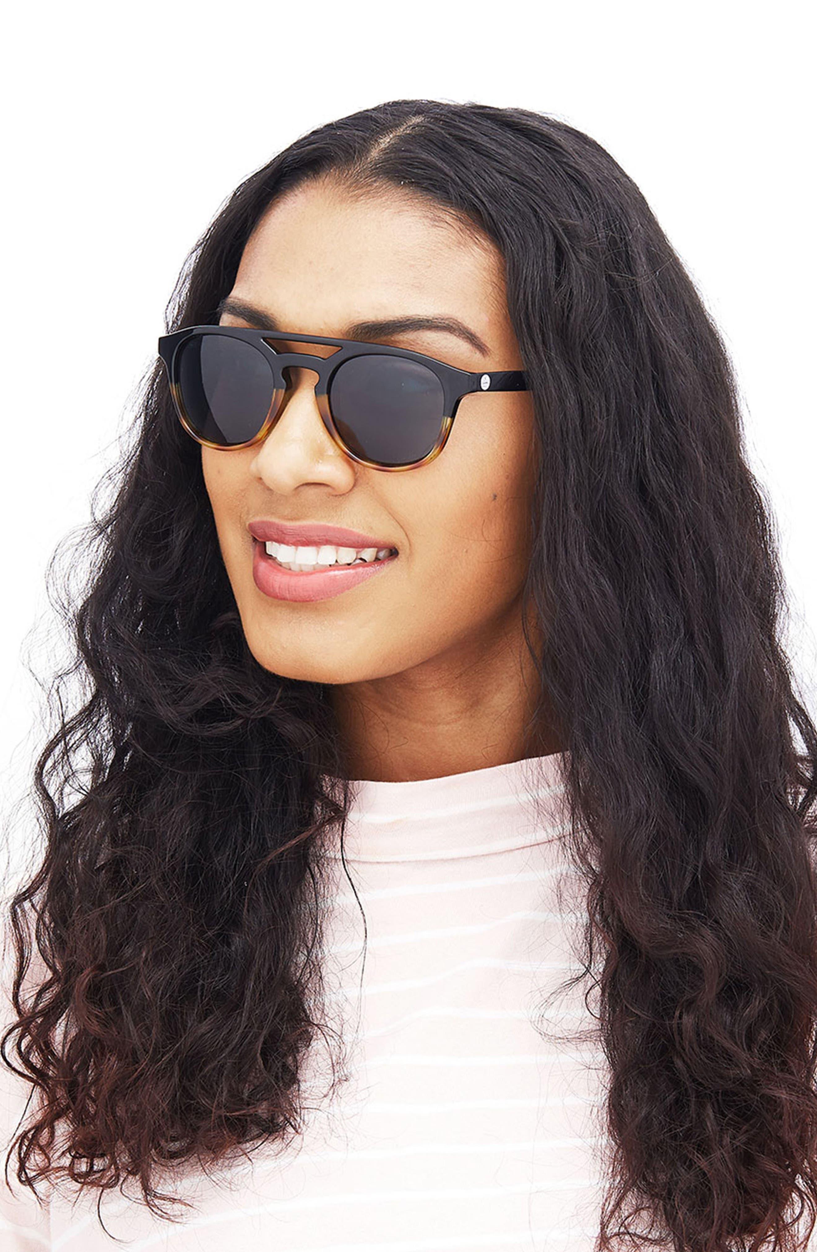 Olema 53mm Polarized Sunglasses,                             Alternate thumbnail 5, color,                             TORTOISE AMBER