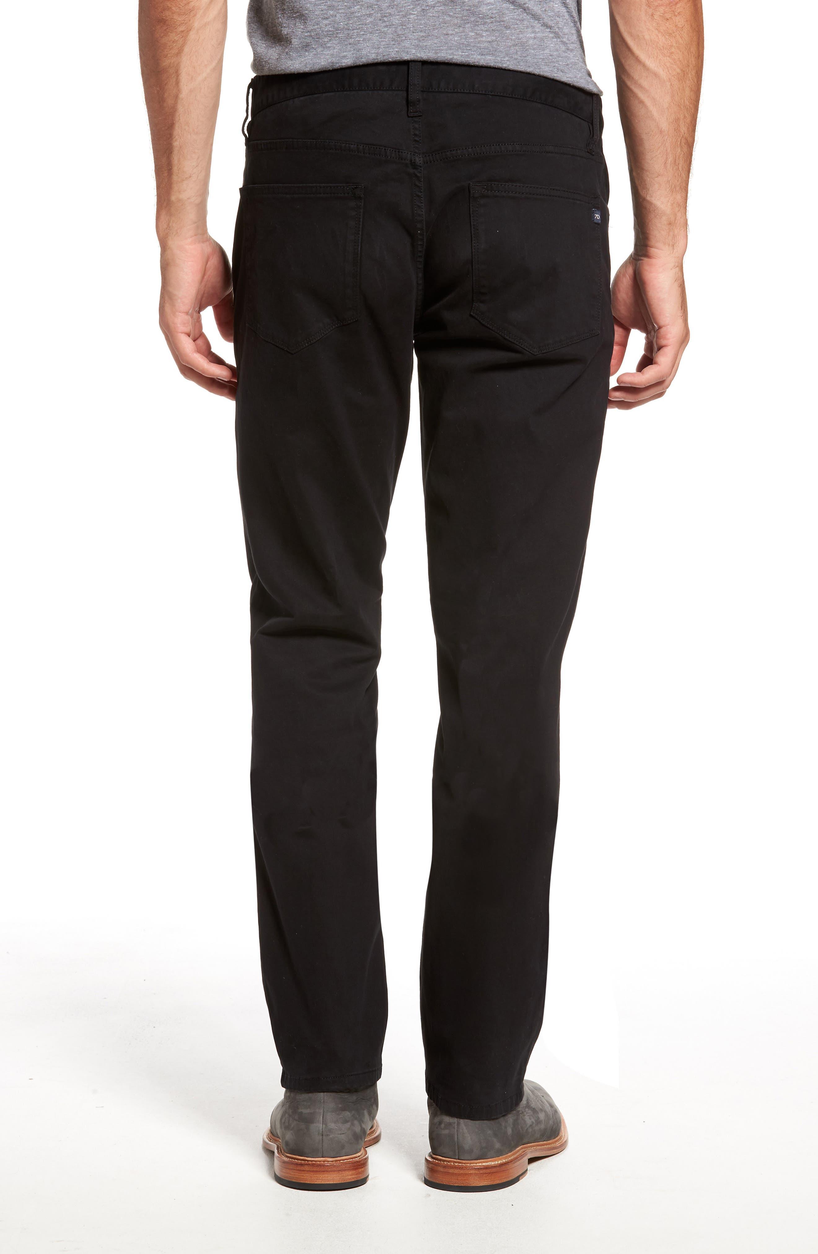 Brushed Twill Five-Pocket Pants,                             Alternate thumbnail 2, color,                             BLACK