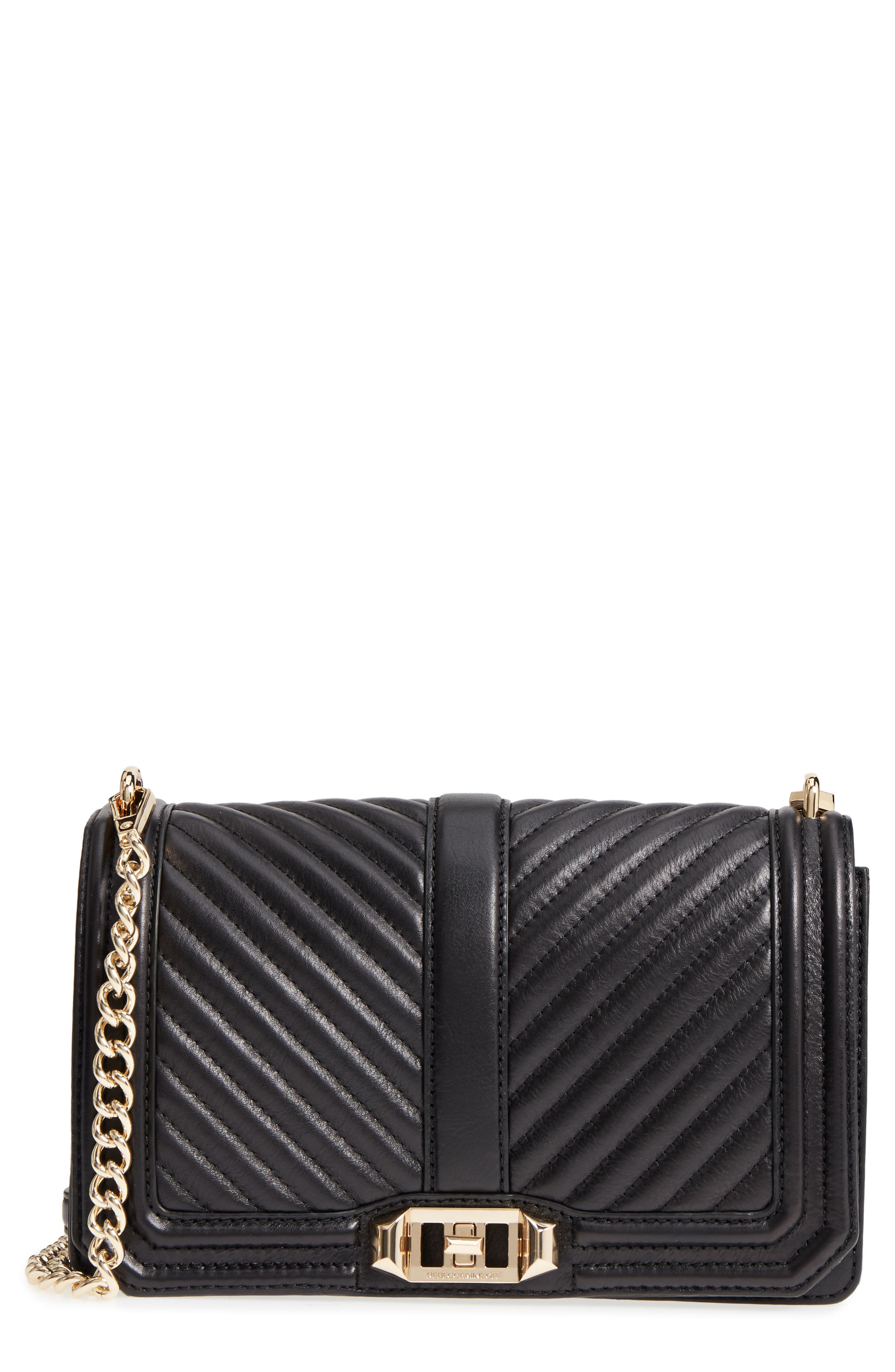 'Chevron Quilted Love' Crossbody Bag,                             Main thumbnail 3, color,