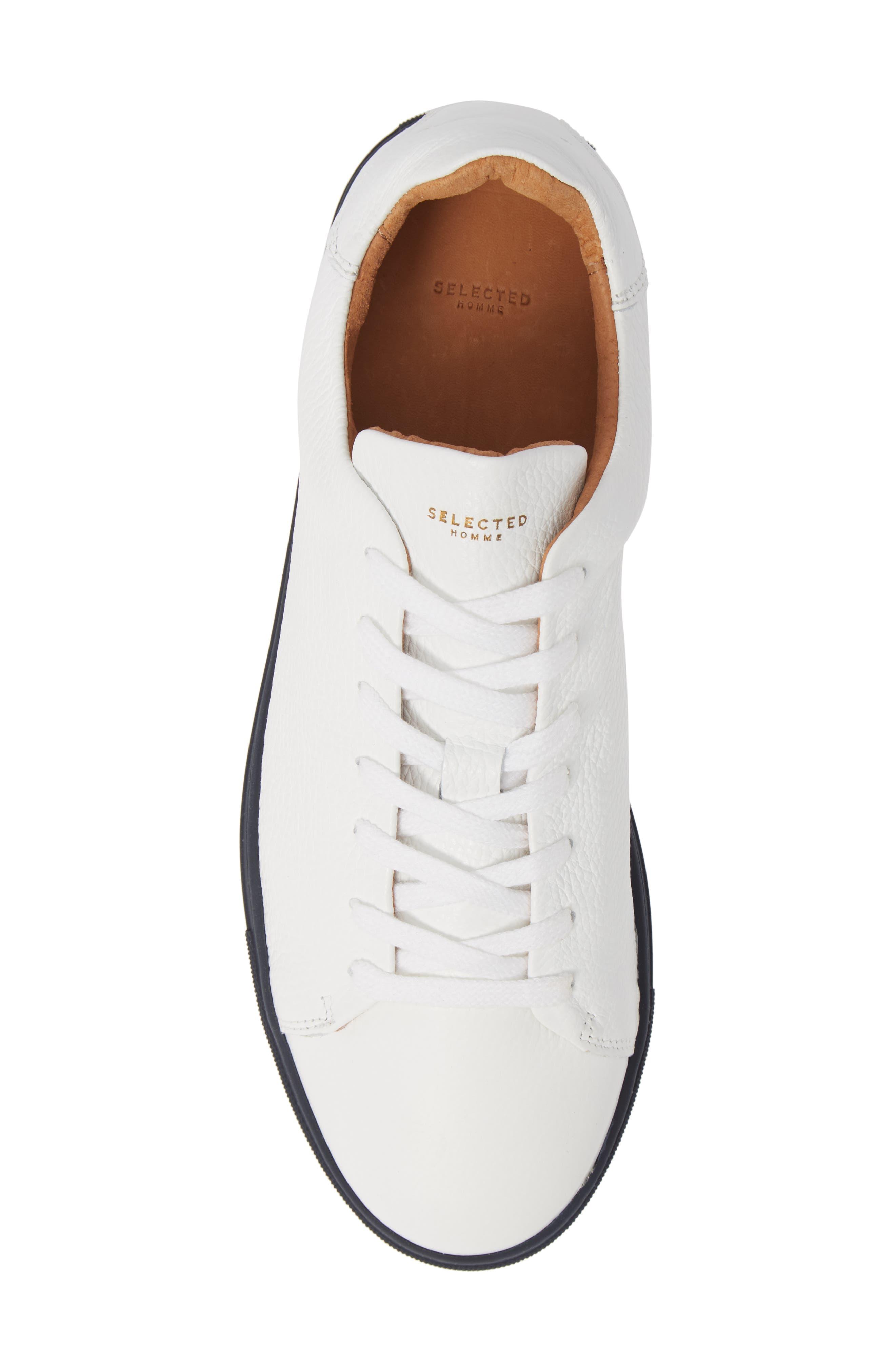 David Sneaker,                             Alternate thumbnail 5, color,                             WHITE/ DARK NAVY SOLE