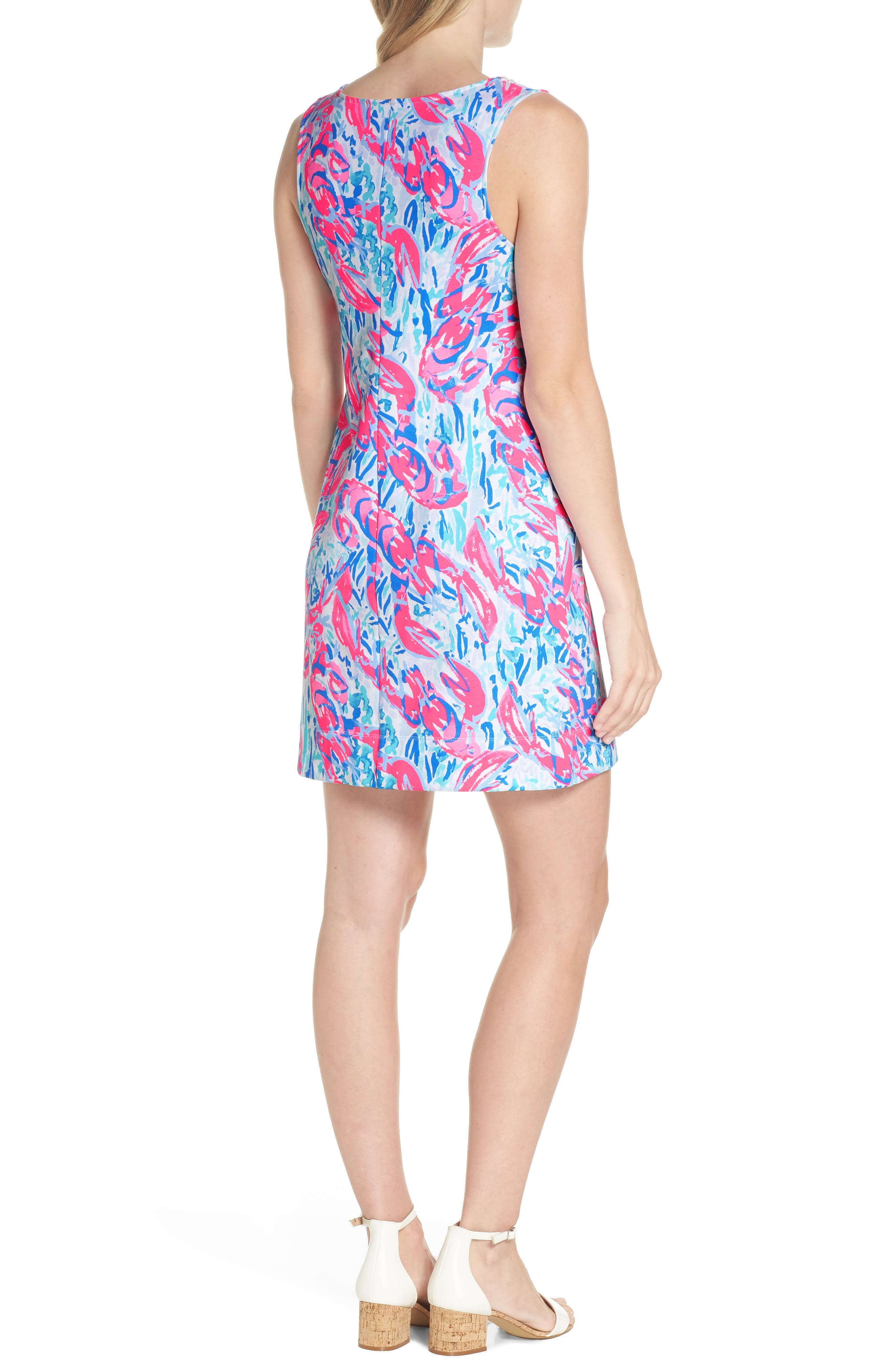 Harper Shift Dress,                             Alternate thumbnail 2, color,                             COSMIC CORAL CRACKED UP
