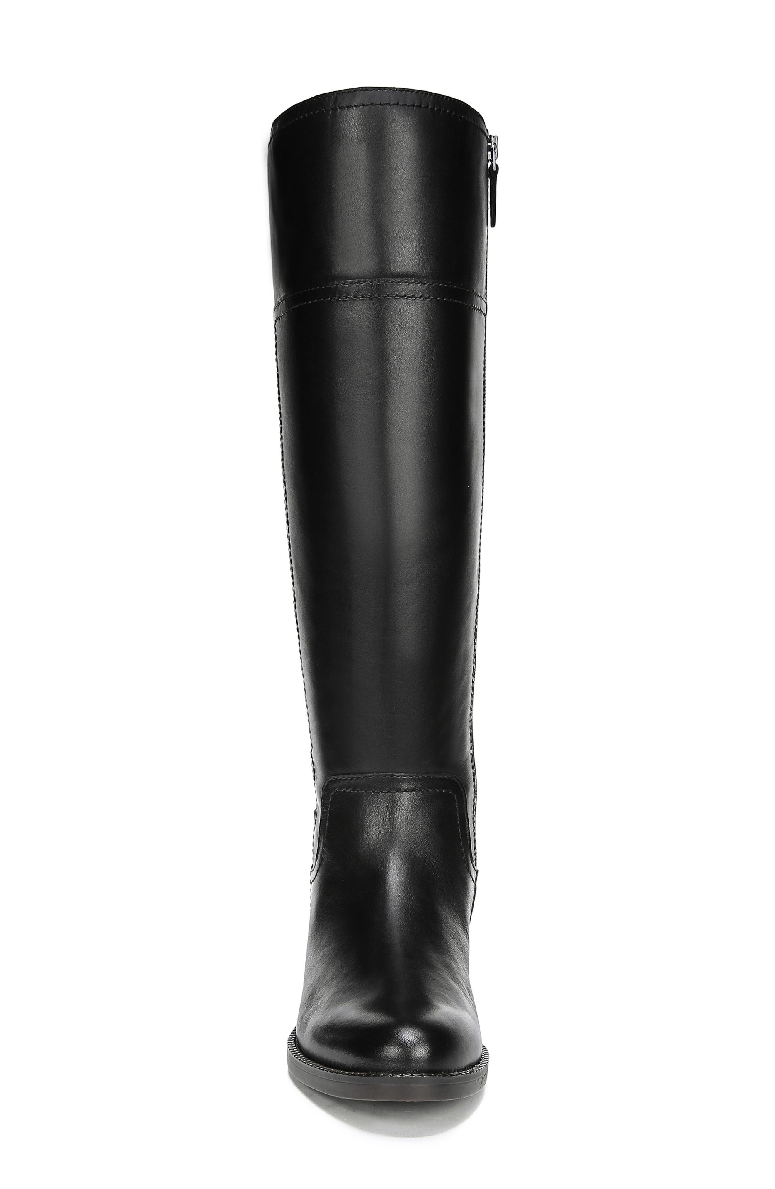 Capitol Riding Boot,                             Alternate thumbnail 4, color,                             BLACK LEATHER