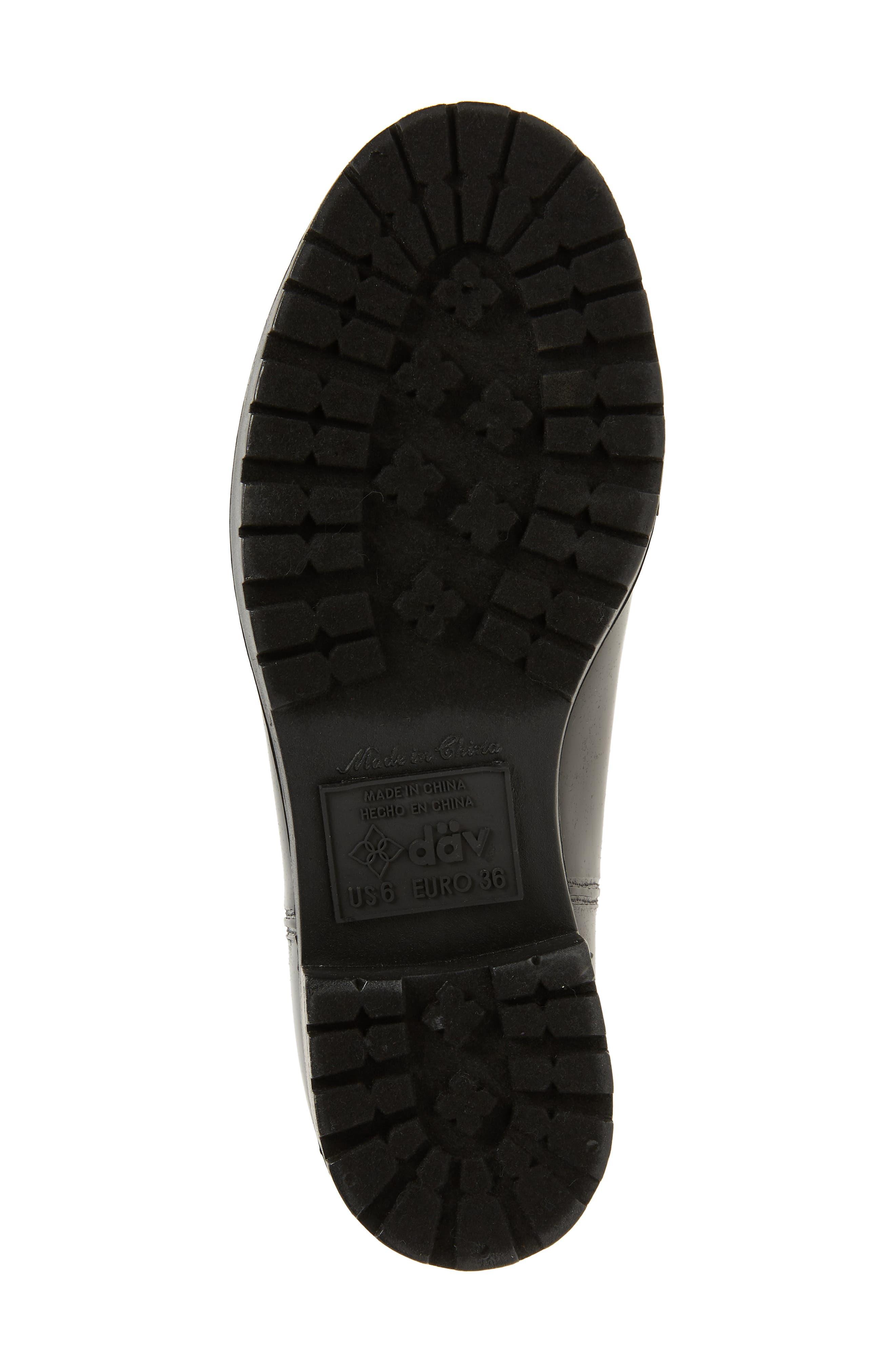 Parma 2 Tall Waterproof Rain Boot,                             Alternate thumbnail 6, color,                             BLACK FABRIC