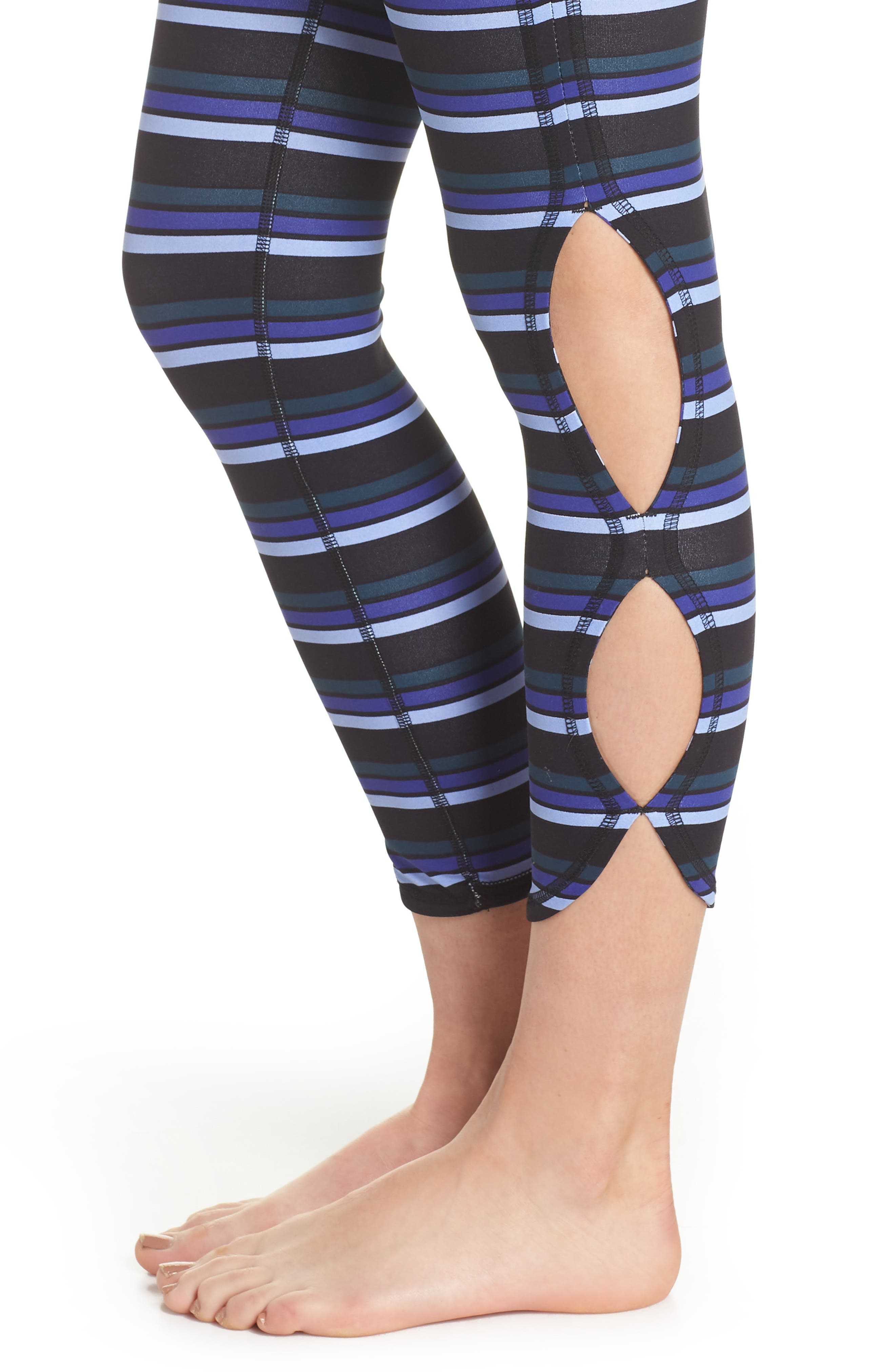 FREE PEOPLE MOVEMENT,                             Stripe Infinity Leggings,                             Alternate thumbnail 4, color,                             001