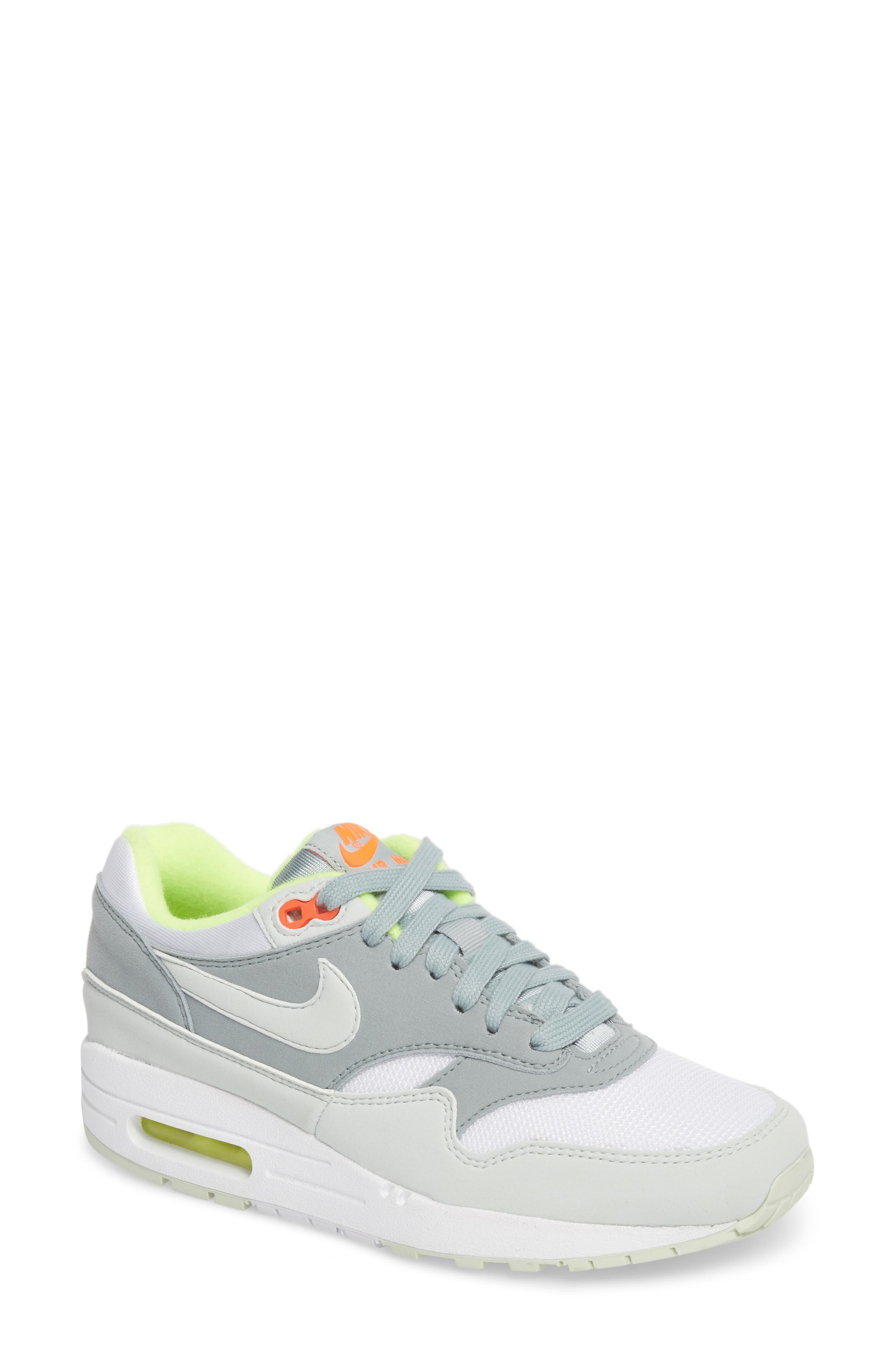 'Air Max 1 ND' Sneaker,                             Main thumbnail 1, color,                             WHITE/ BARELY GREY