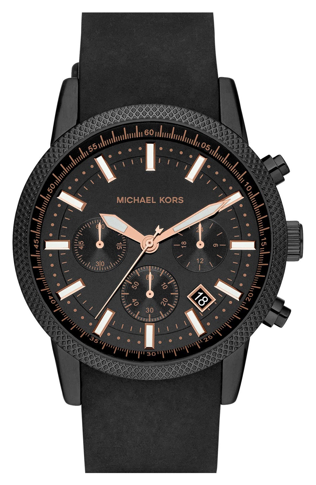 Michael Kors 'Scout' Chronograph Silicone Strap Watch, 43mm,                             Alternate thumbnail 19, color,