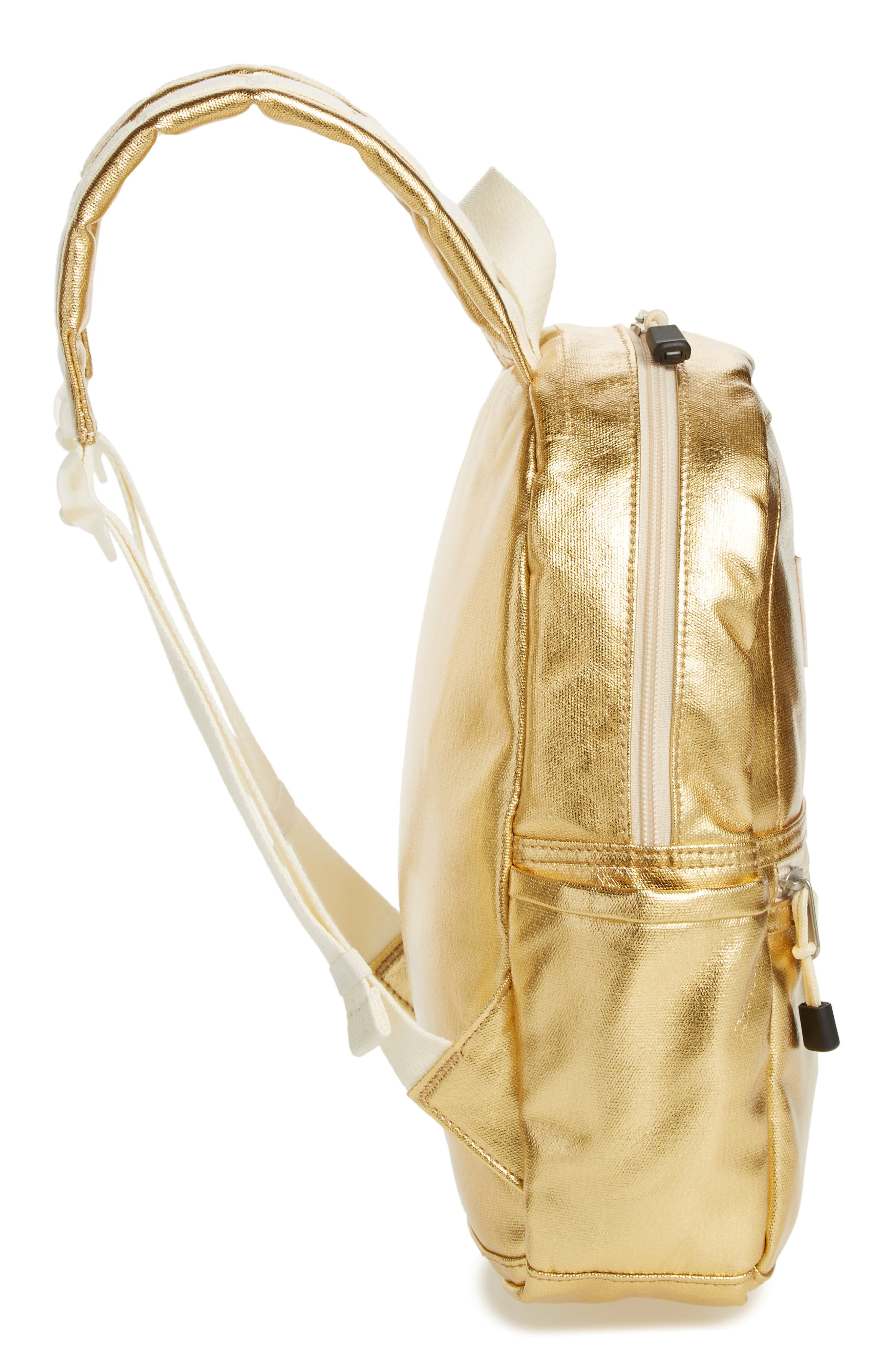 Downtown Mini Kane Metallic Backpack,                             Alternate thumbnail 5, color,                             GOLD
