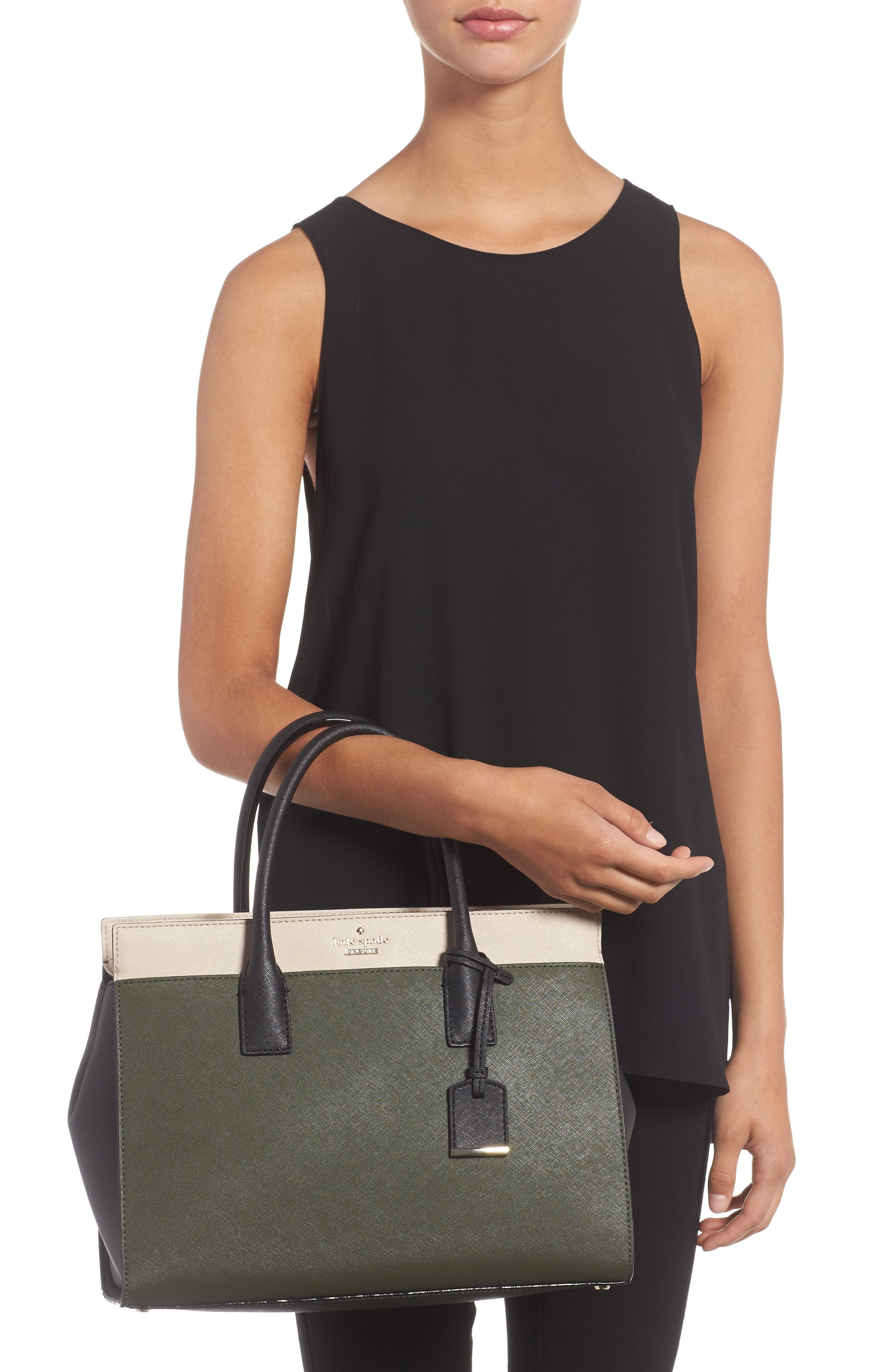cameron street - candace leather satchel,                             Alternate thumbnail 2, color,                             301