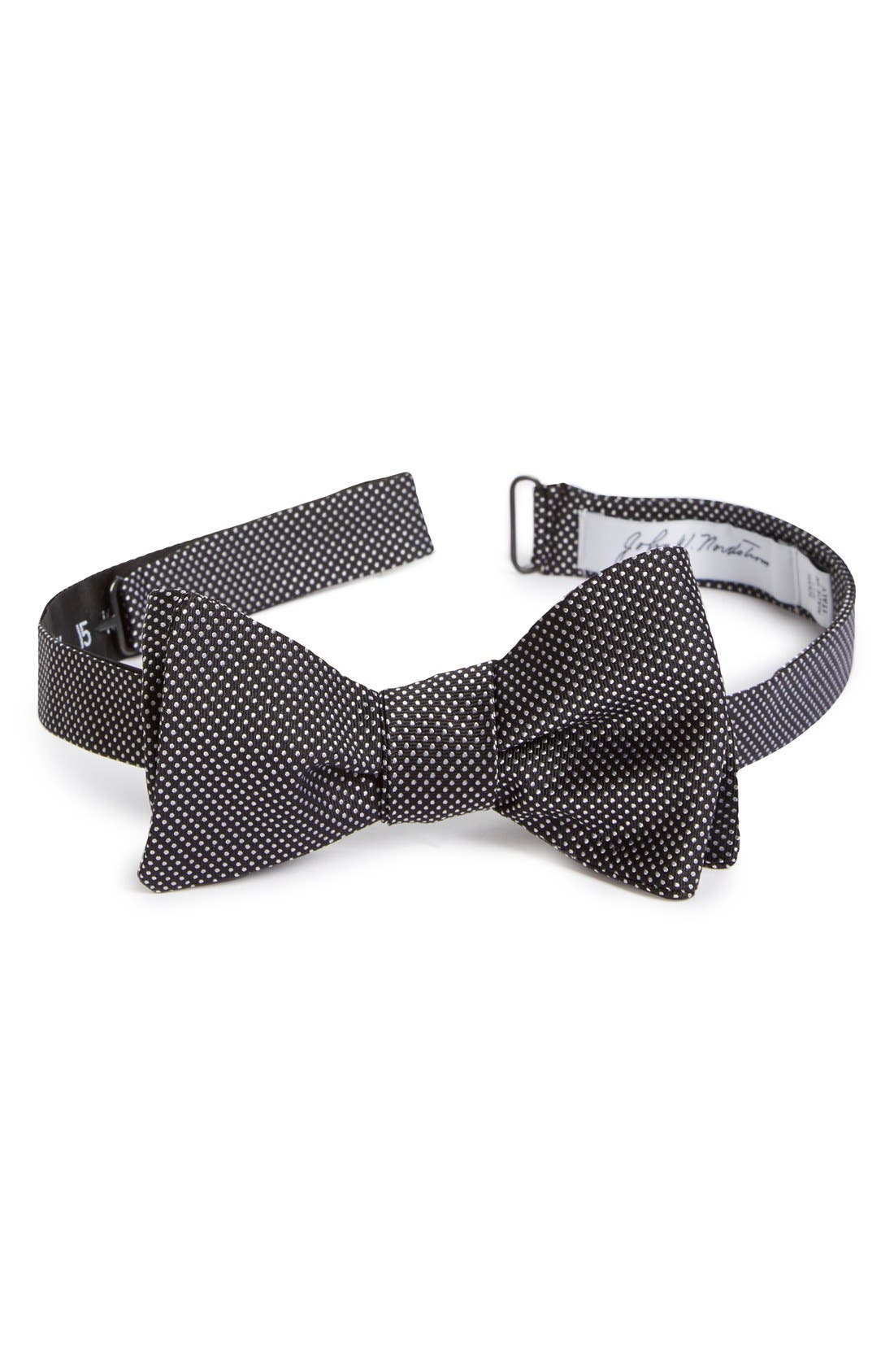 Dot Silk Bow Tie,                             Main thumbnail 2, color,