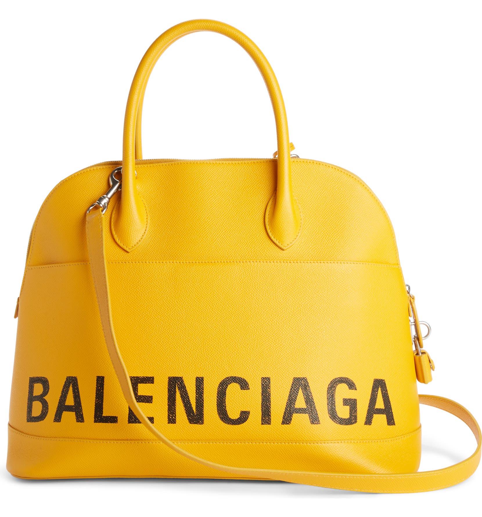 d5c12b69233b Balenciaga Medium Logo Leather Satchel with Water-Repellent Coat ...