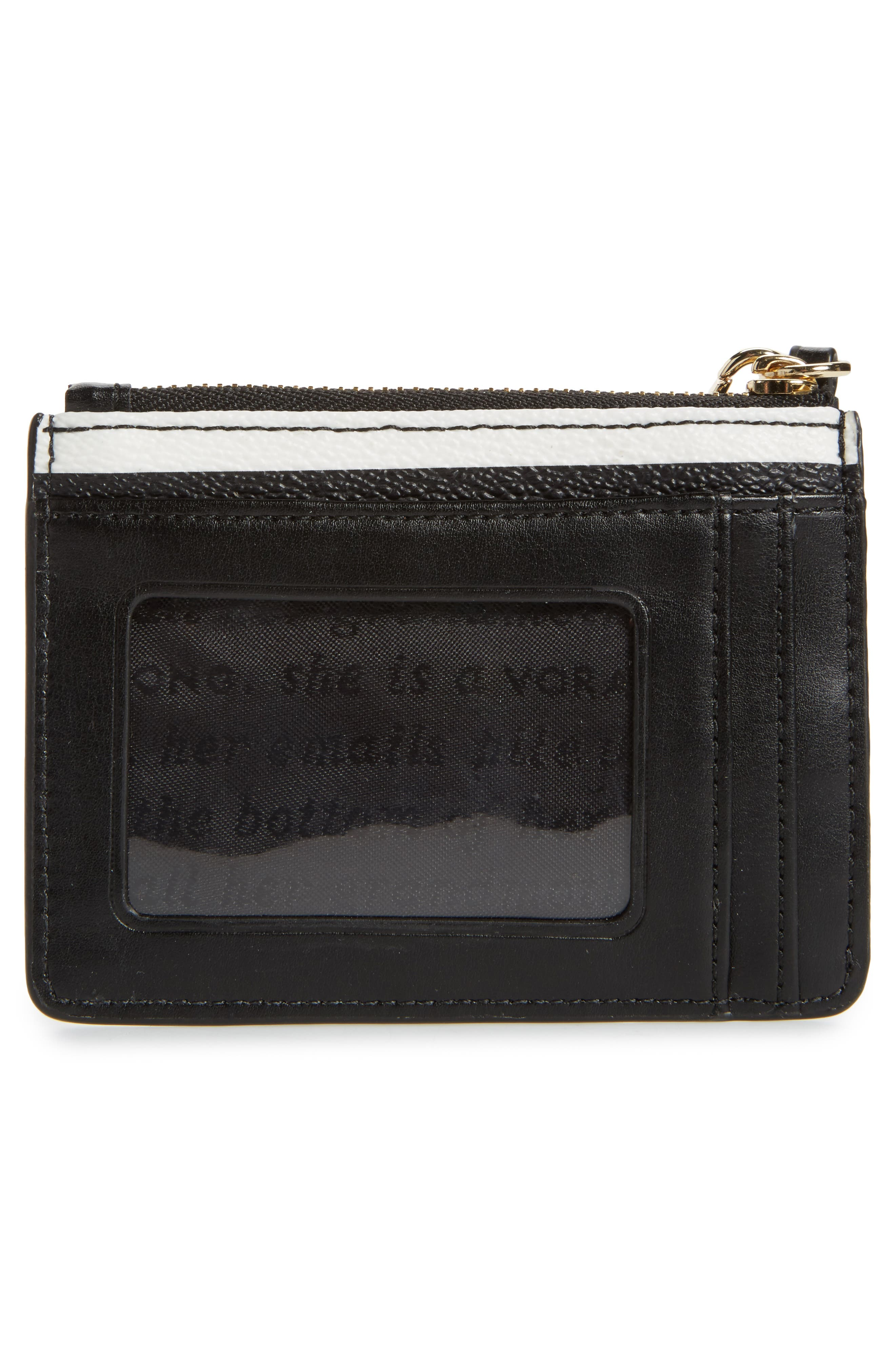 hyde lane - mellody stripe leather card case,                             Alternate thumbnail 3, color,                             001