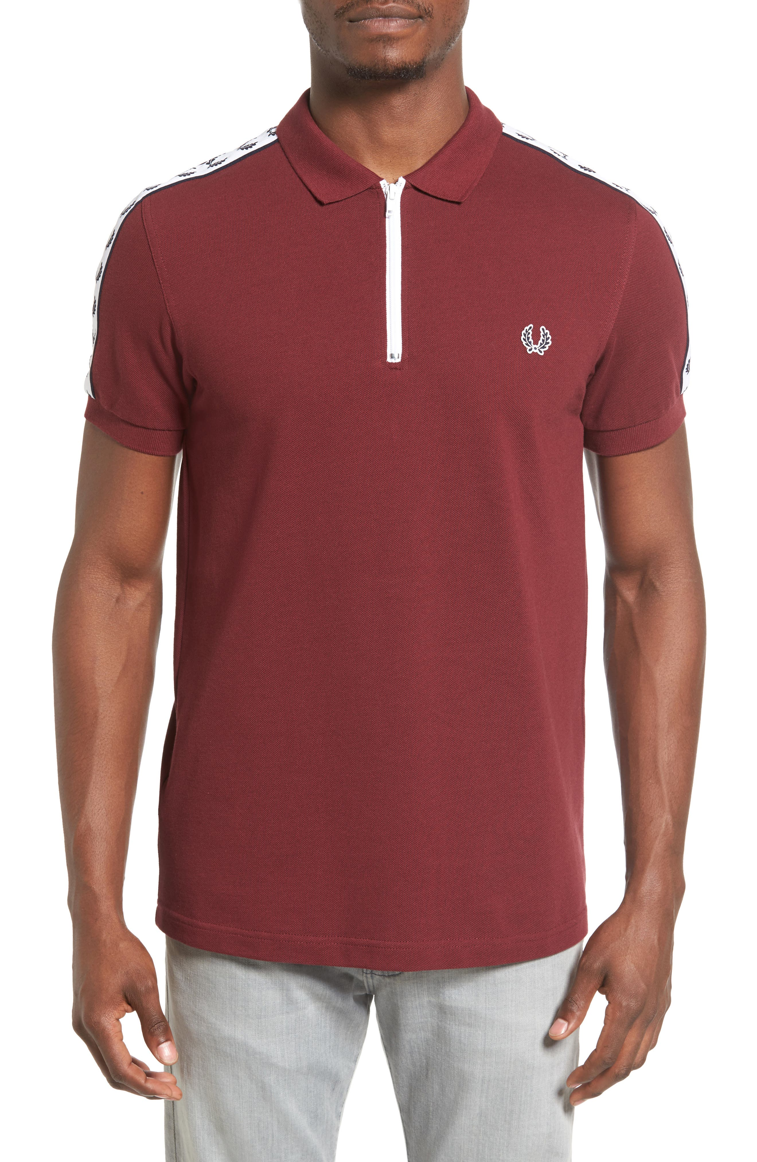 Taped Zip Polo,                             Alternate thumbnail 4, color,                             572