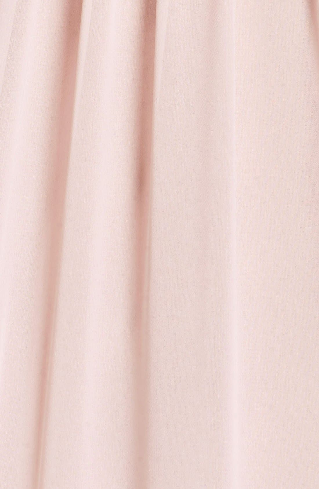 Lace Strap Gathered Chiffon Gown,                             Alternate thumbnail 16, color,