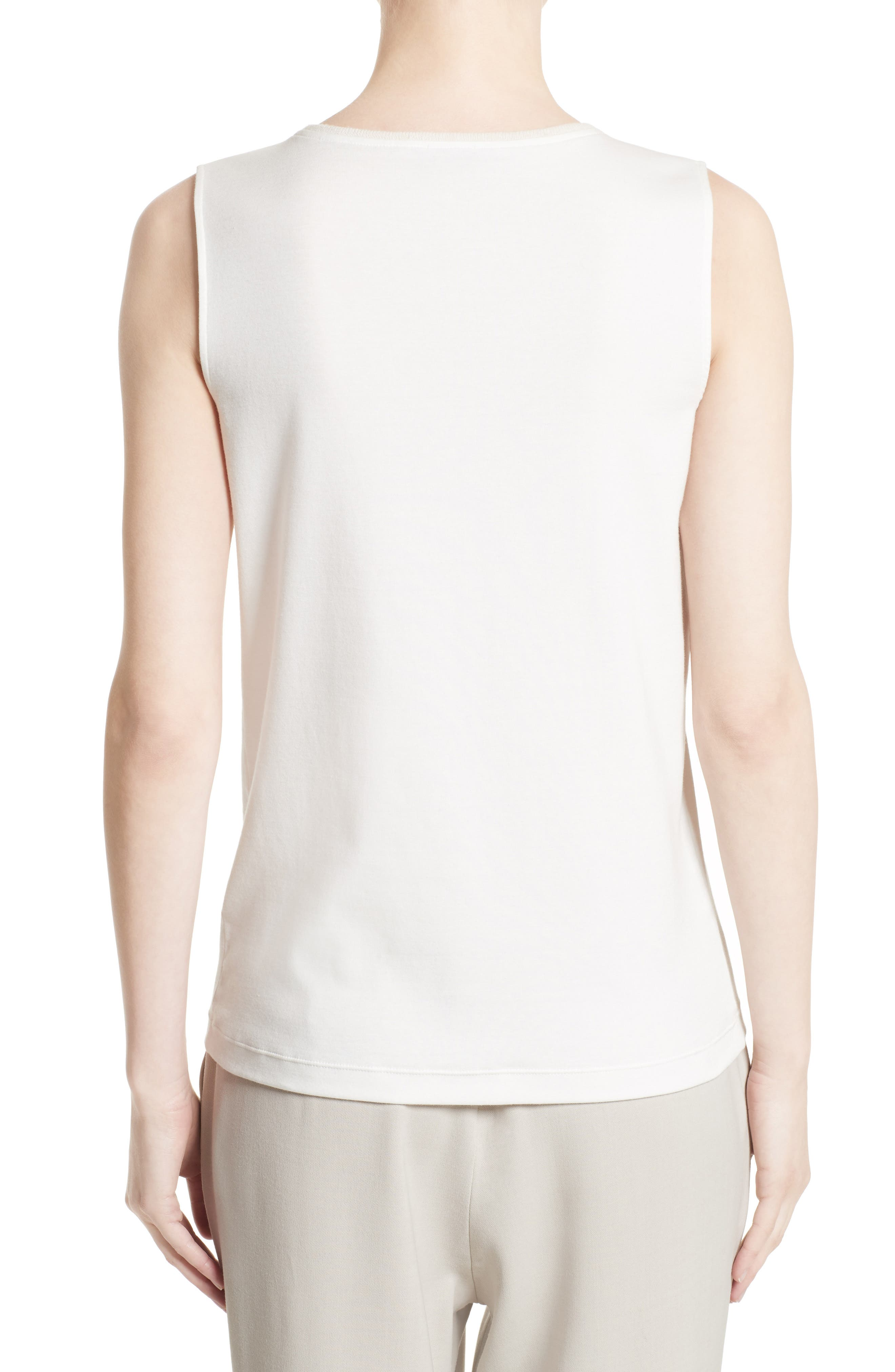Beaded Stretch Cotton Tank,                             Alternate thumbnail 2, color,                             101