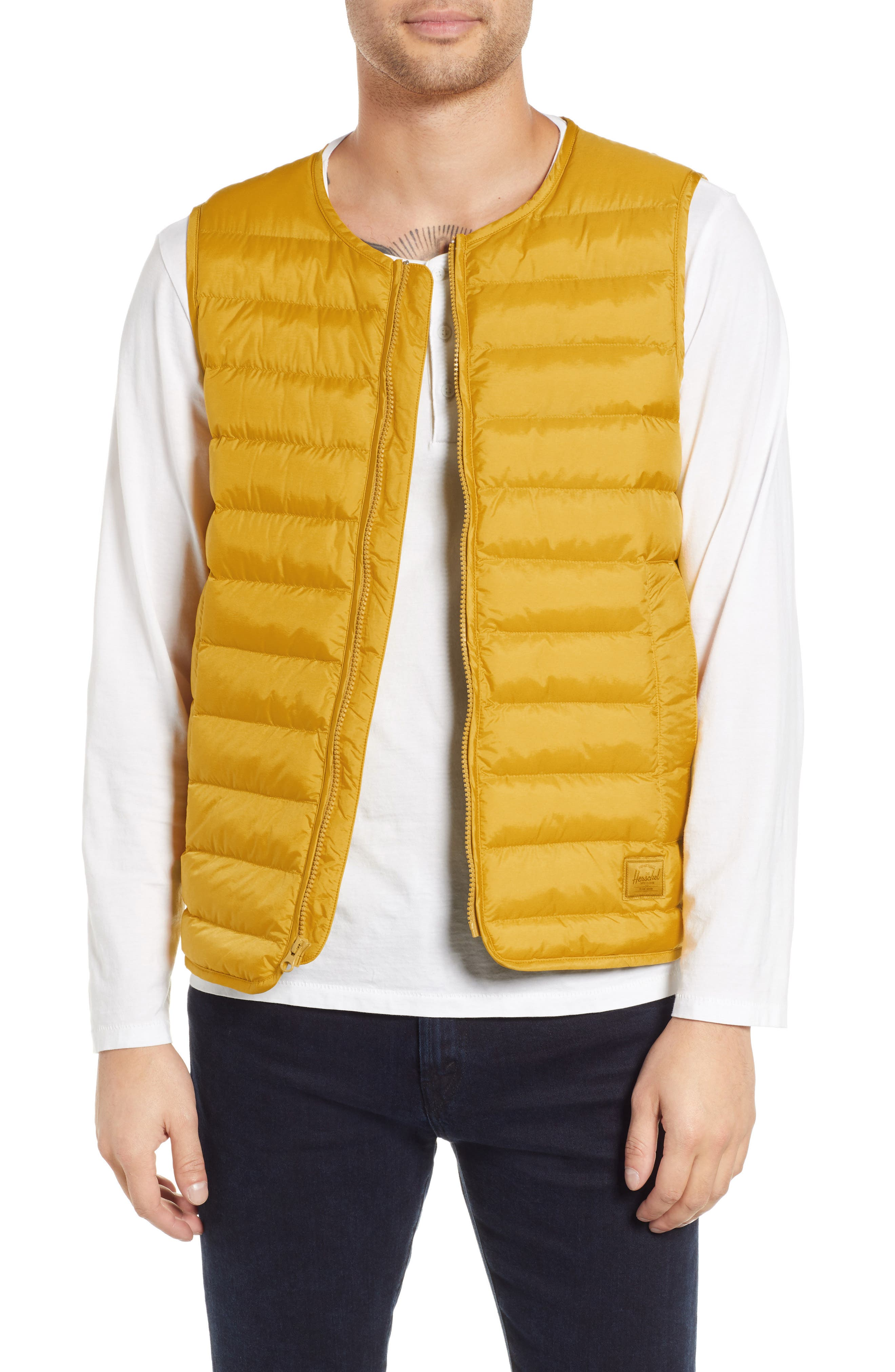 Herschel Supply Co. Featherless Quilted Vest, Yellow