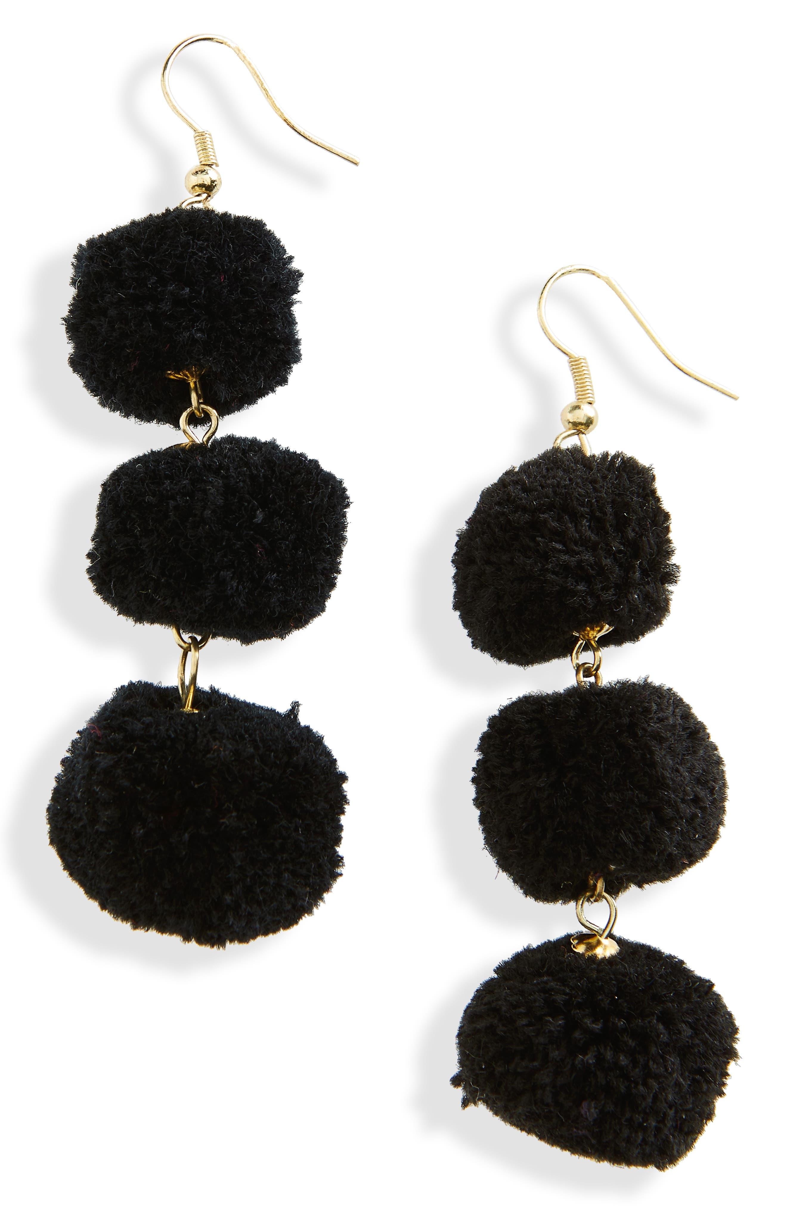 January Pom Earrings,                         Main,                         color,