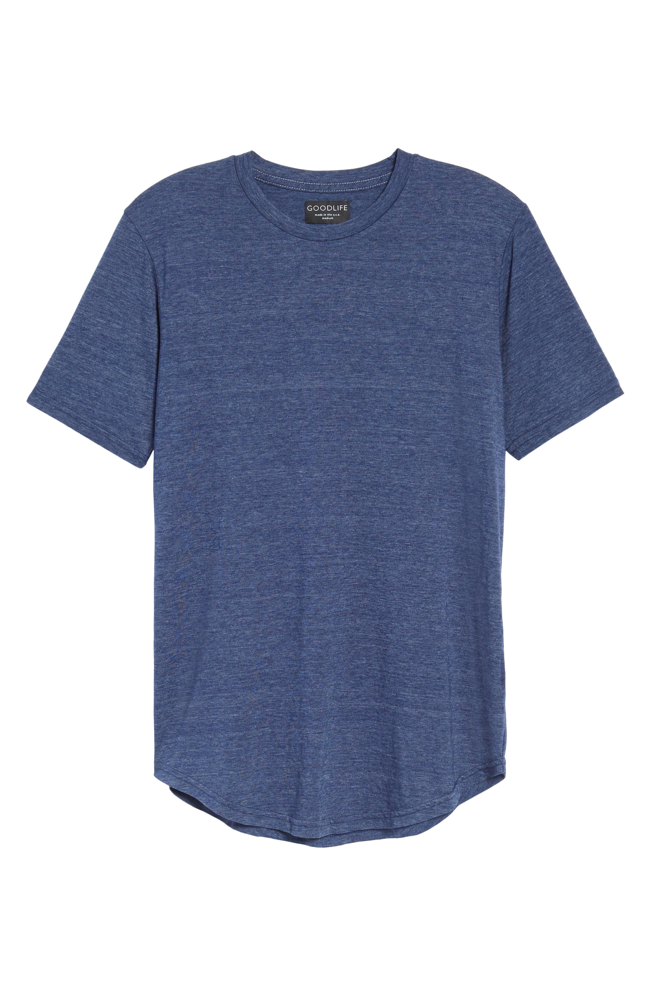 Scallop Triblend Crewneck T-Shirt,                             Alternate thumbnail 41, color,