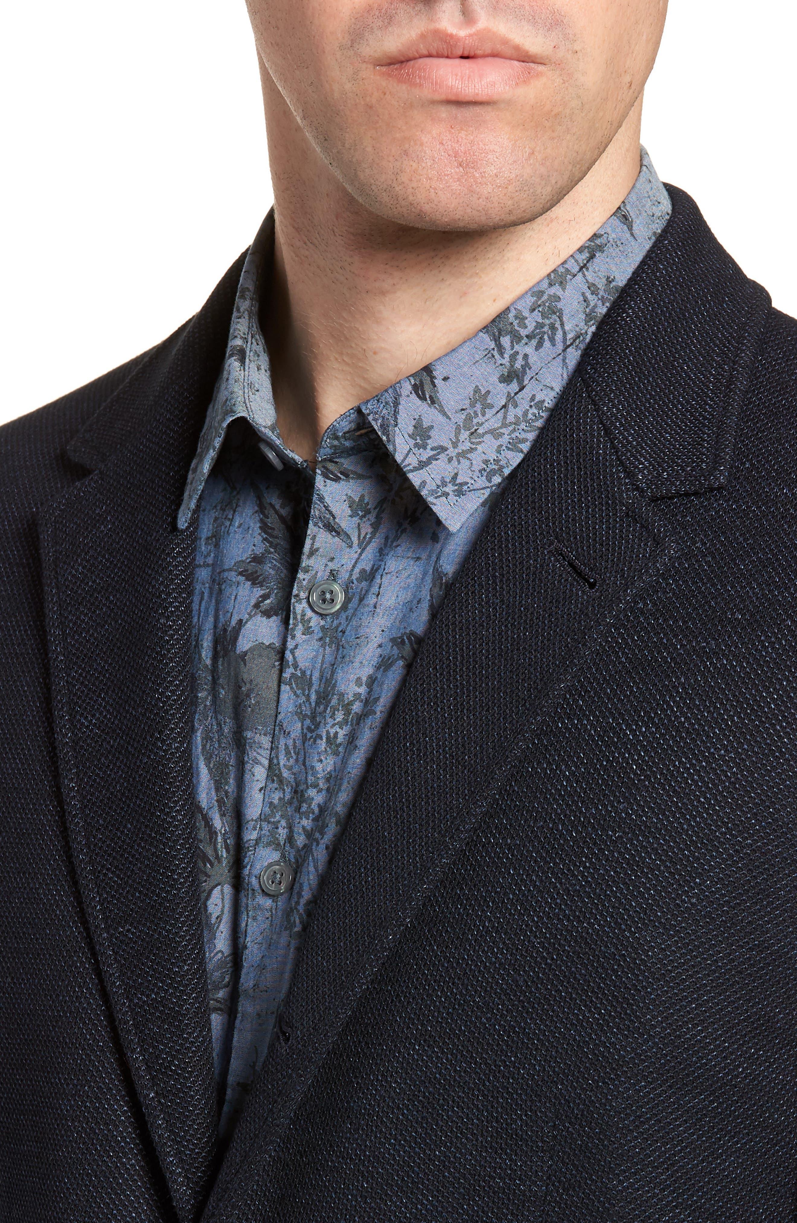 Regular Fit Cotton & Linen Blazer,                             Alternate thumbnail 4, color,                             405