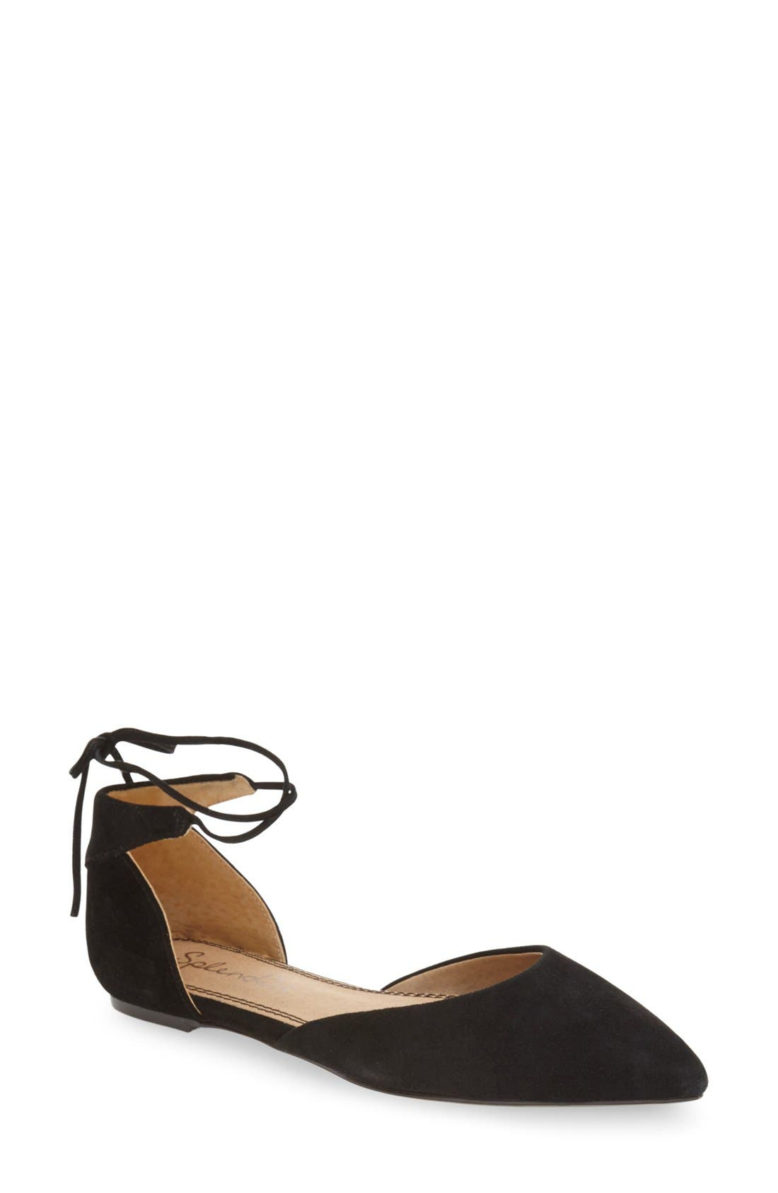 'Annabelle' Lace-Up d'Orsay Flat,                         Main,                         color, 001