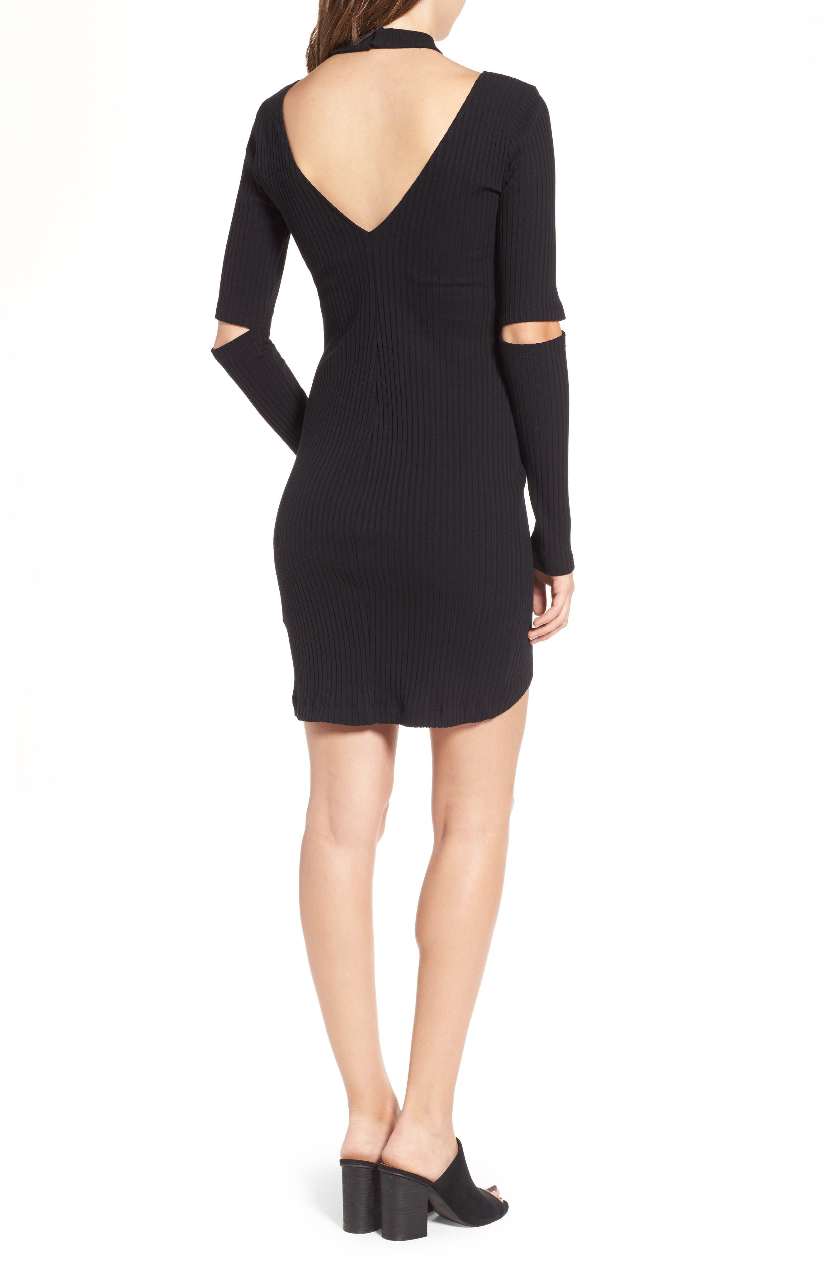 Elbow Cutout Dress,                             Alternate thumbnail 2, color,                             001