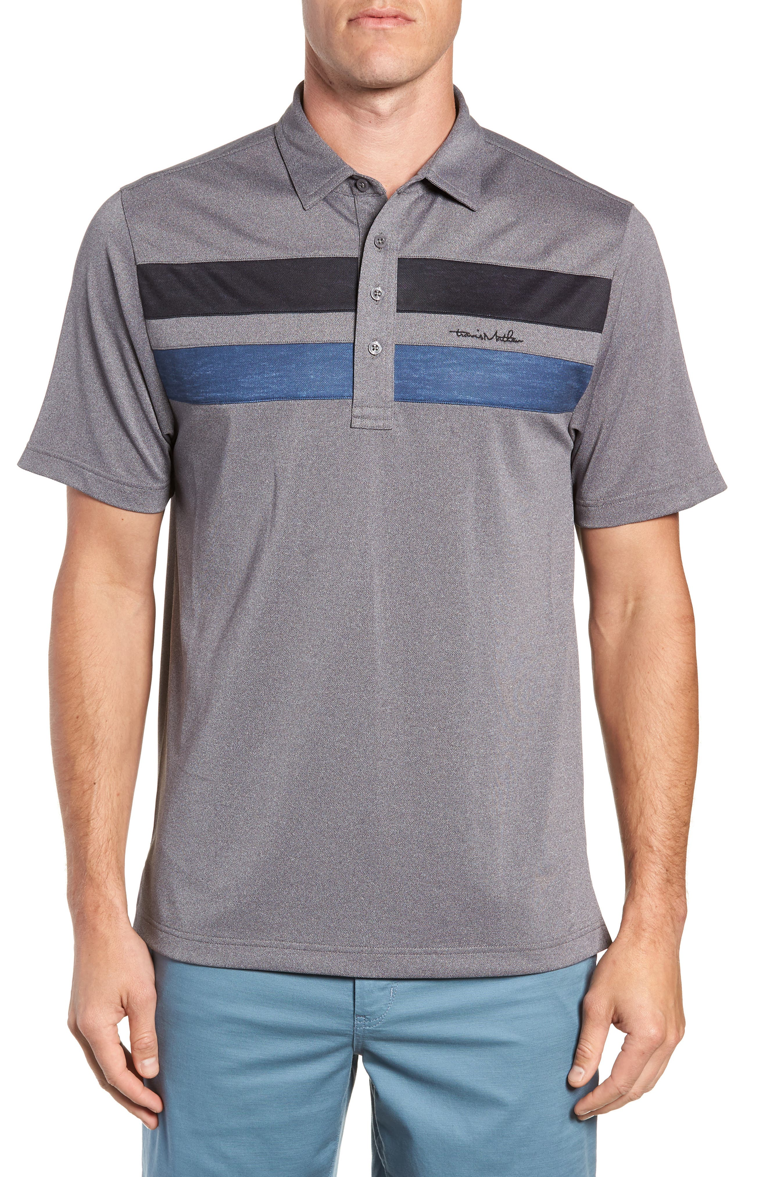 Big Six Regular Fit Polo,                         Main,                         color, HEATHER GREY