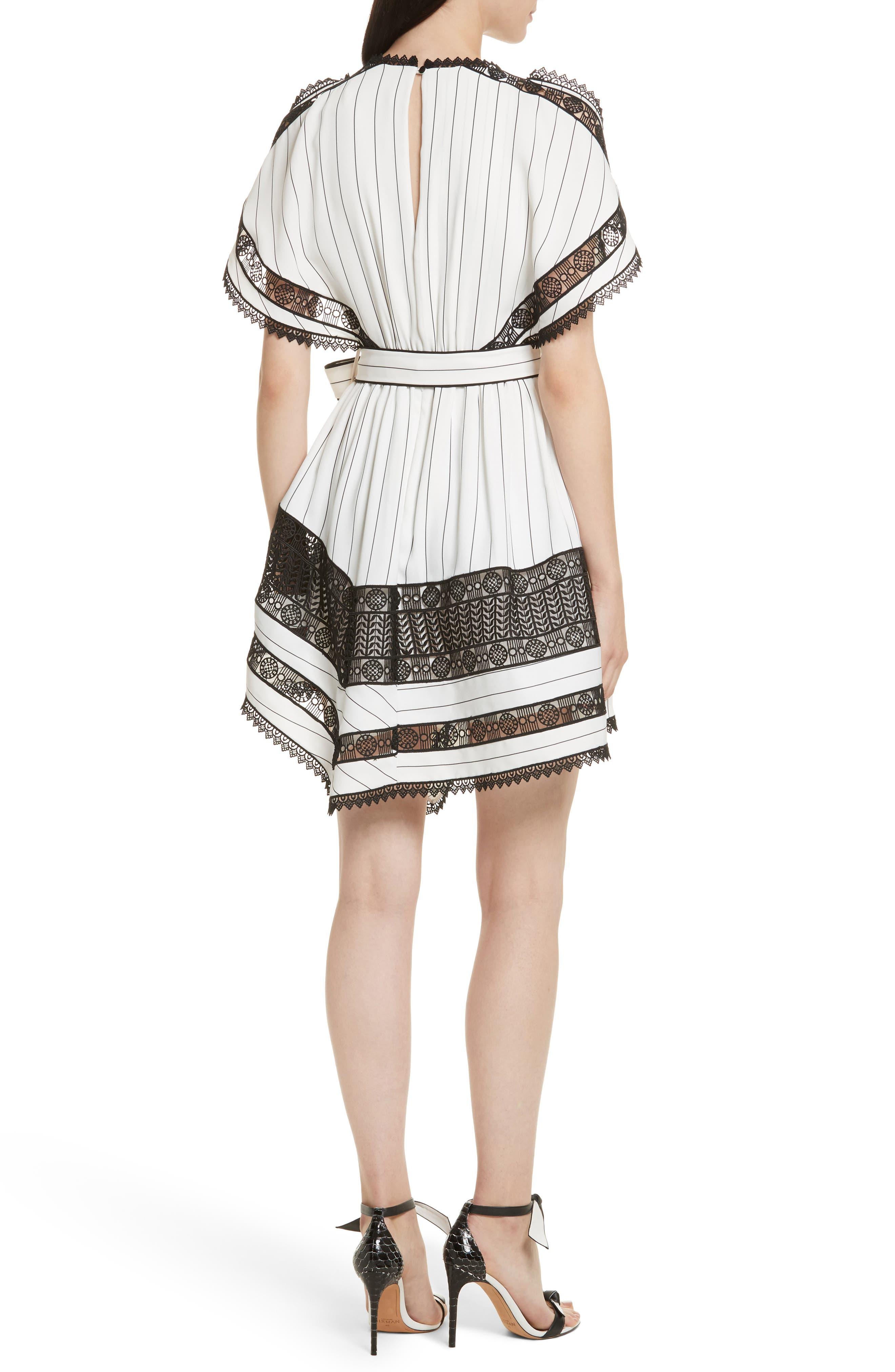 Lace Trim Handkerchief Hem Dress,                             Alternate thumbnail 2, color,