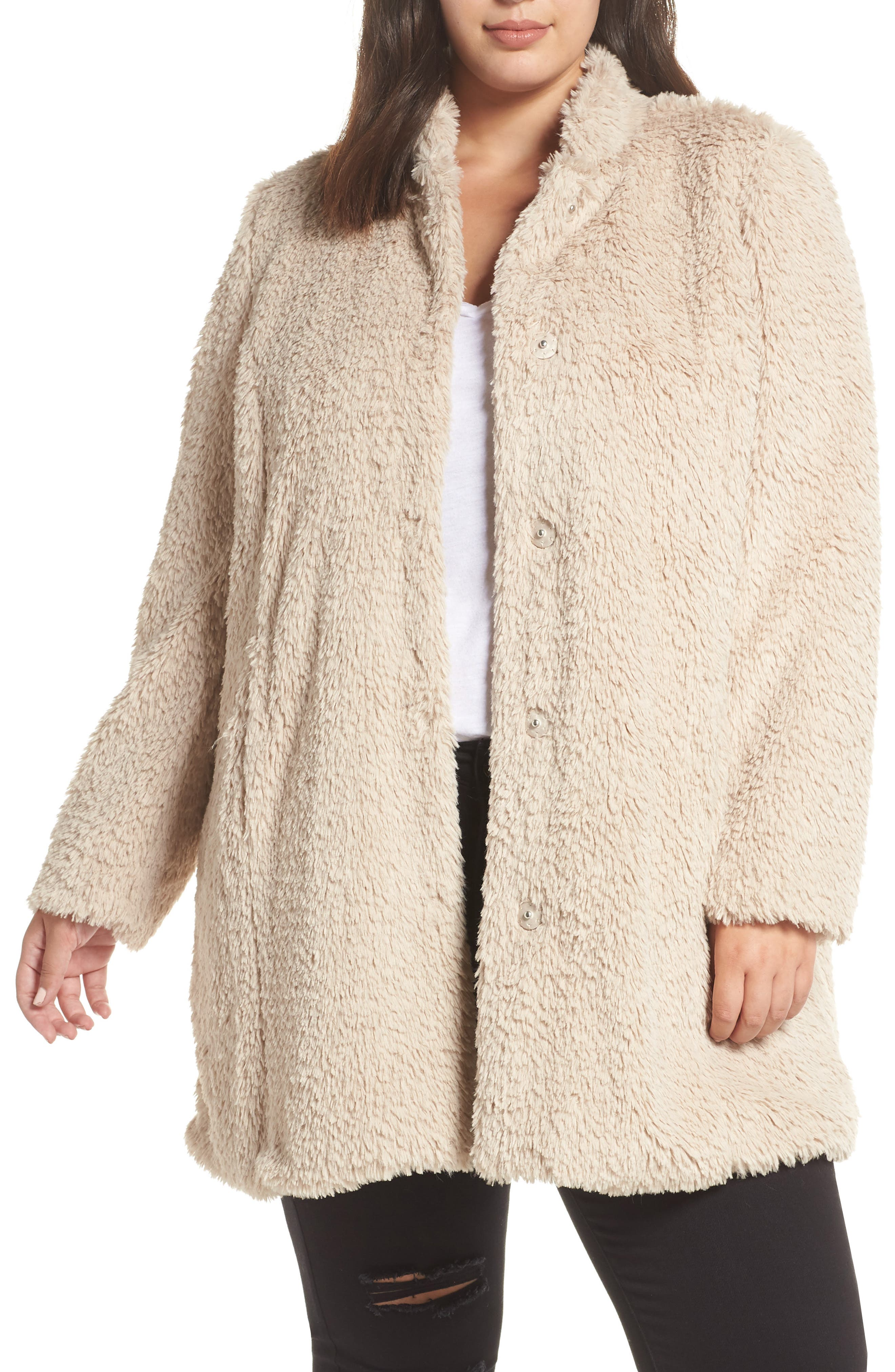 1940s Style Coats and Jackets for Sale Plus Size Womens Kenneth Cole New York Original Teddy Faux Fur Coat $109.90 AT vintagedancer.com