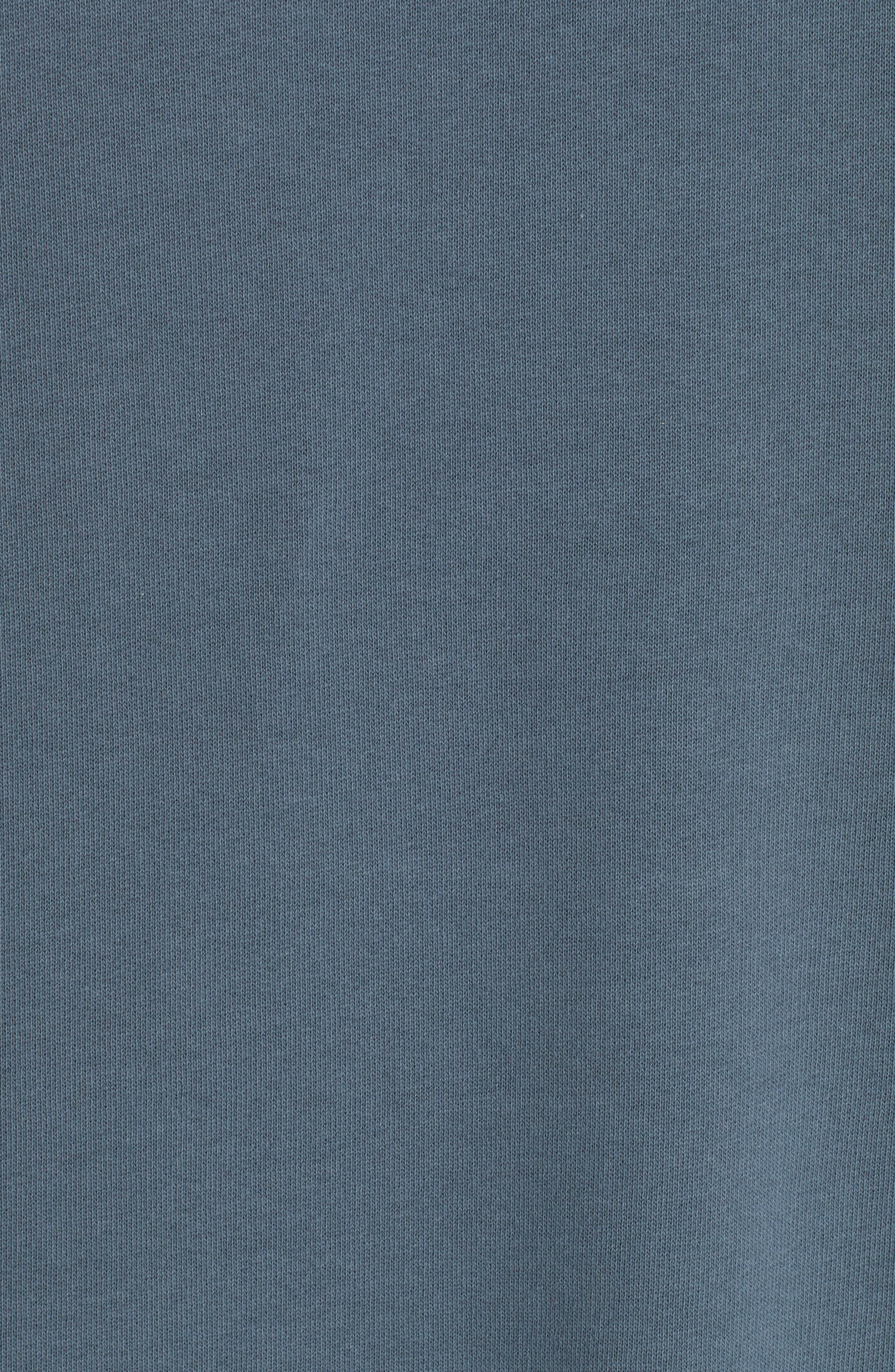 Fleece Knit Sweatshirt,                             Alternate thumbnail 5, color,                             GREY