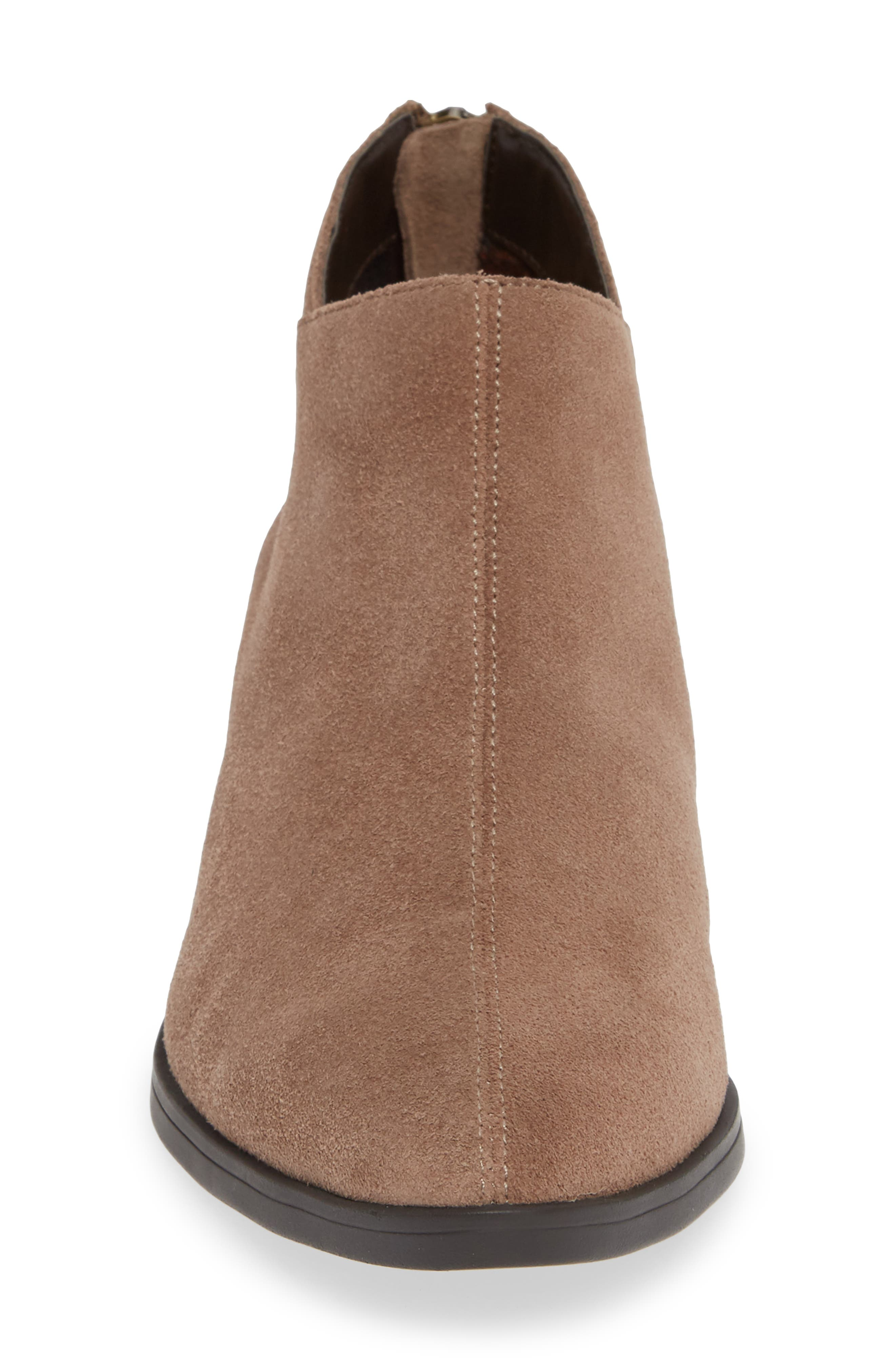 Haven Ankle Bootie,                             Alternate thumbnail 4, color,                             ALMOND SUEDE