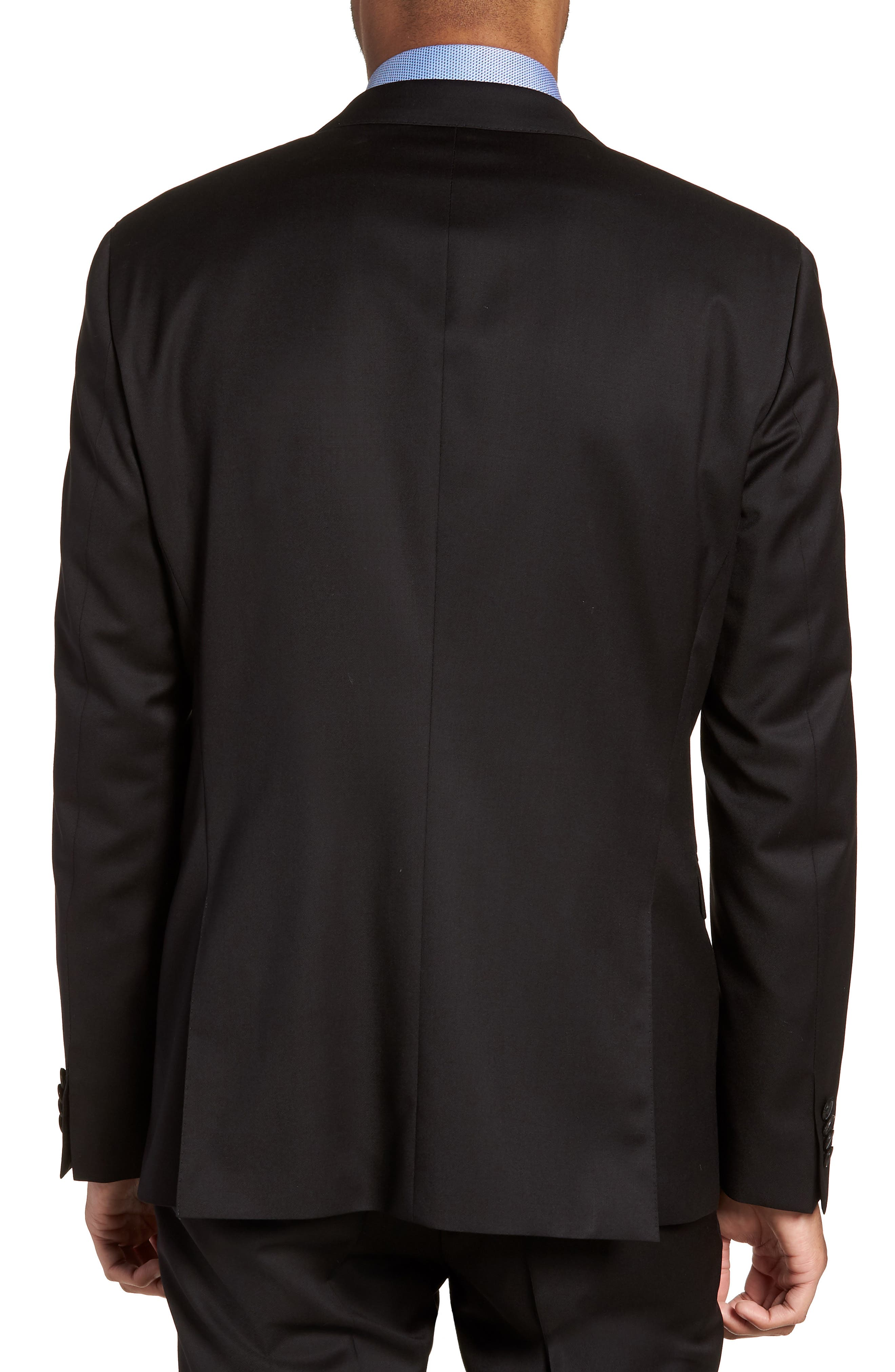 Ryan CYL Extra Trim Fit Solid Wool Sport Coat,                             Alternate thumbnail 2, color,                             BLACK