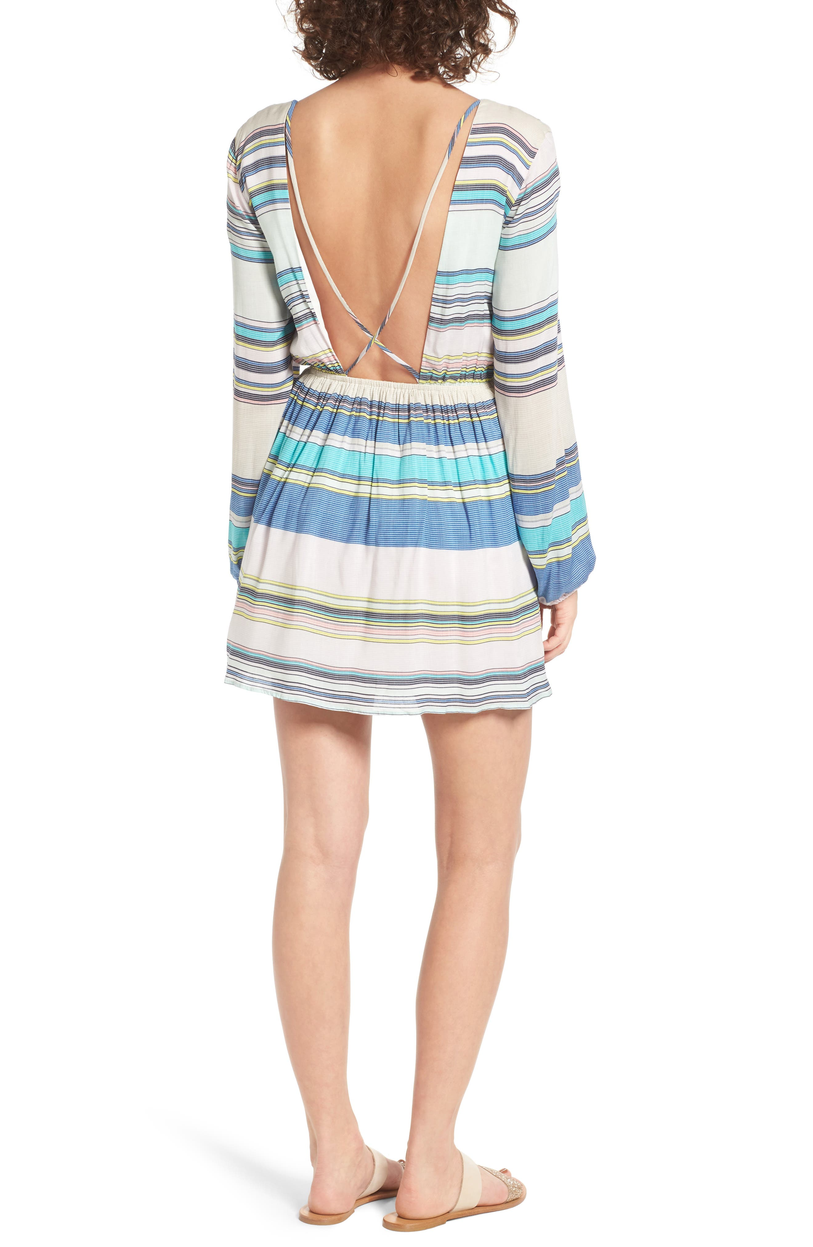 Whitney Stripe Dress,                             Alternate thumbnail 2, color,                             460