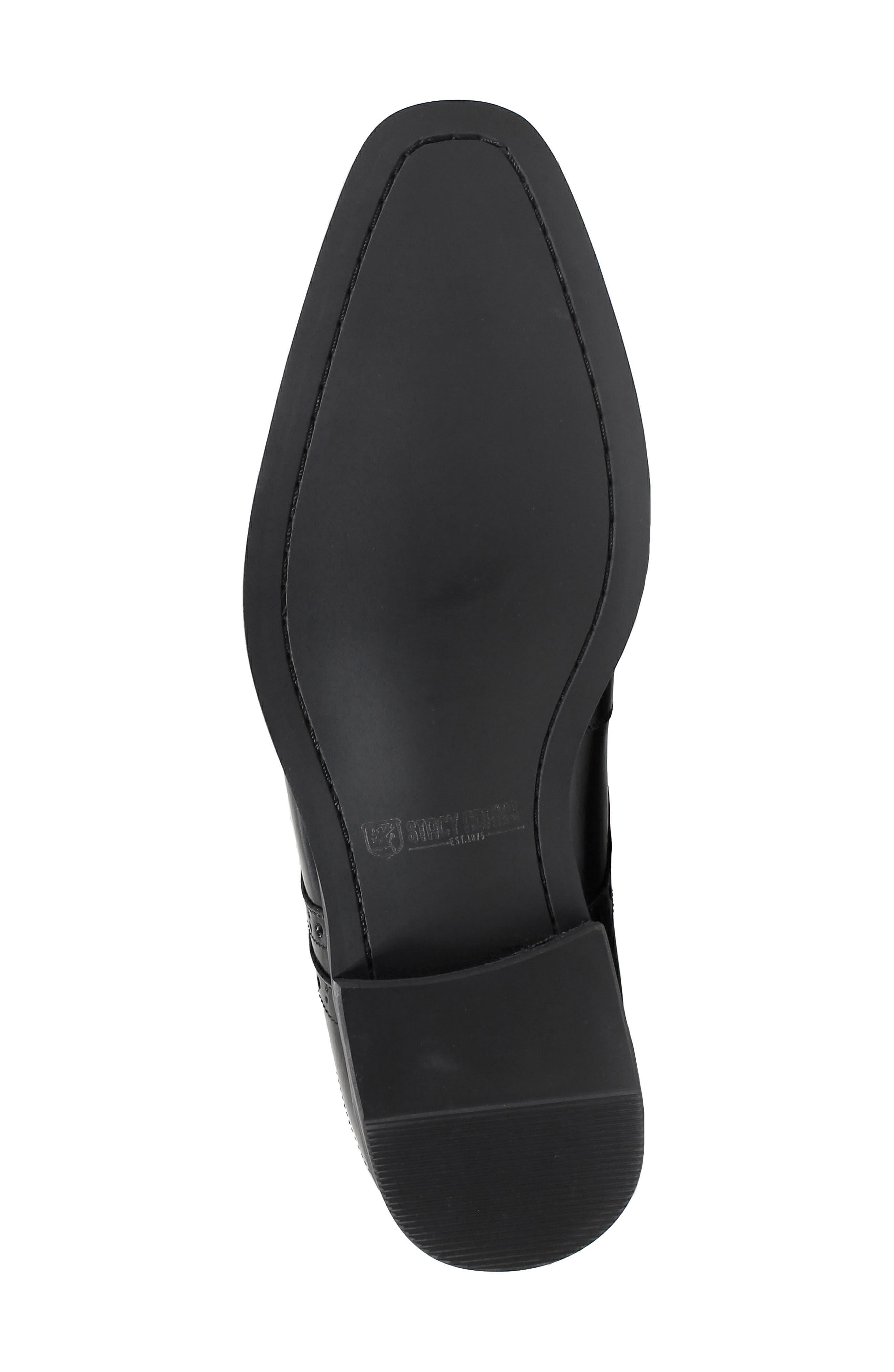 Tayton Cap Toe Double Strap Monk Shoe,                             Alternate thumbnail 6, color,                             001