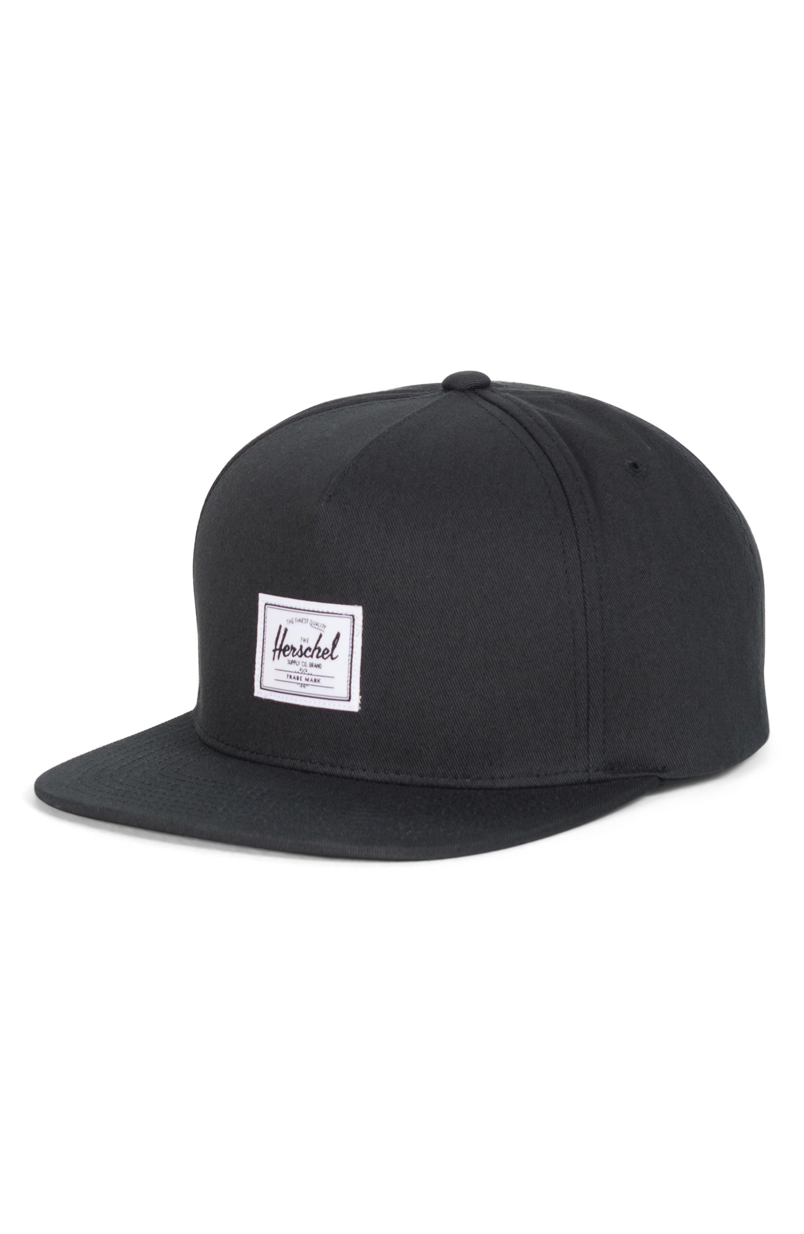 Dean Snapback Baseball Cap,                             Main thumbnail 1, color,                             BLACK