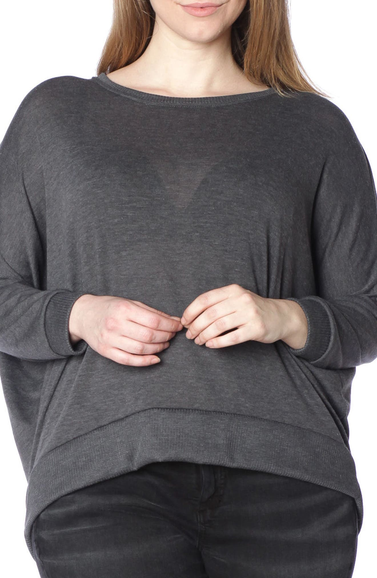 Dolman Sleeve Ribbed Pullover,                             Main thumbnail 2, color,