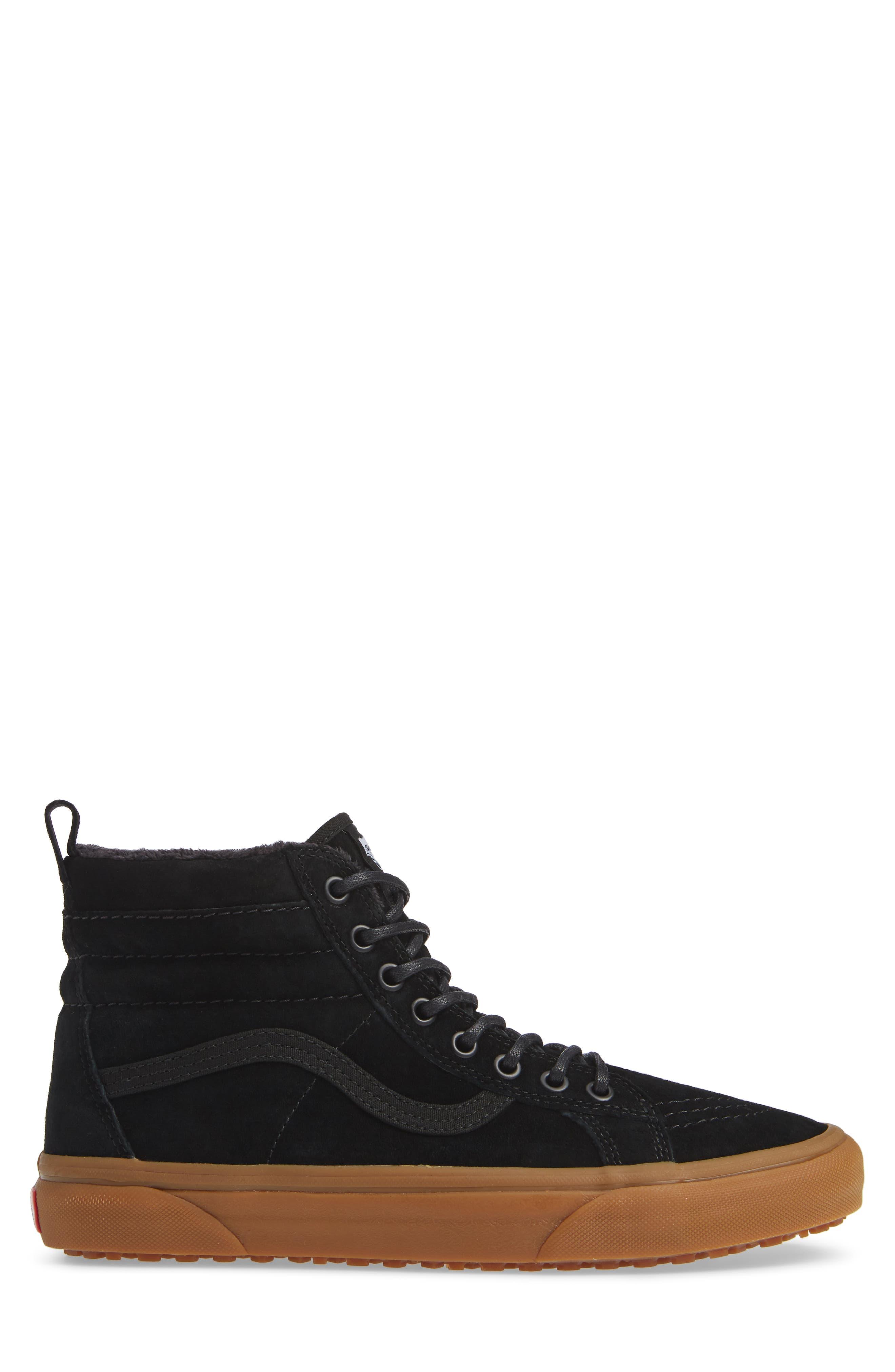 'Sk8-Hi MTE' Sneaker,                             Alternate thumbnail 3, color,                             BLACK/ GUM