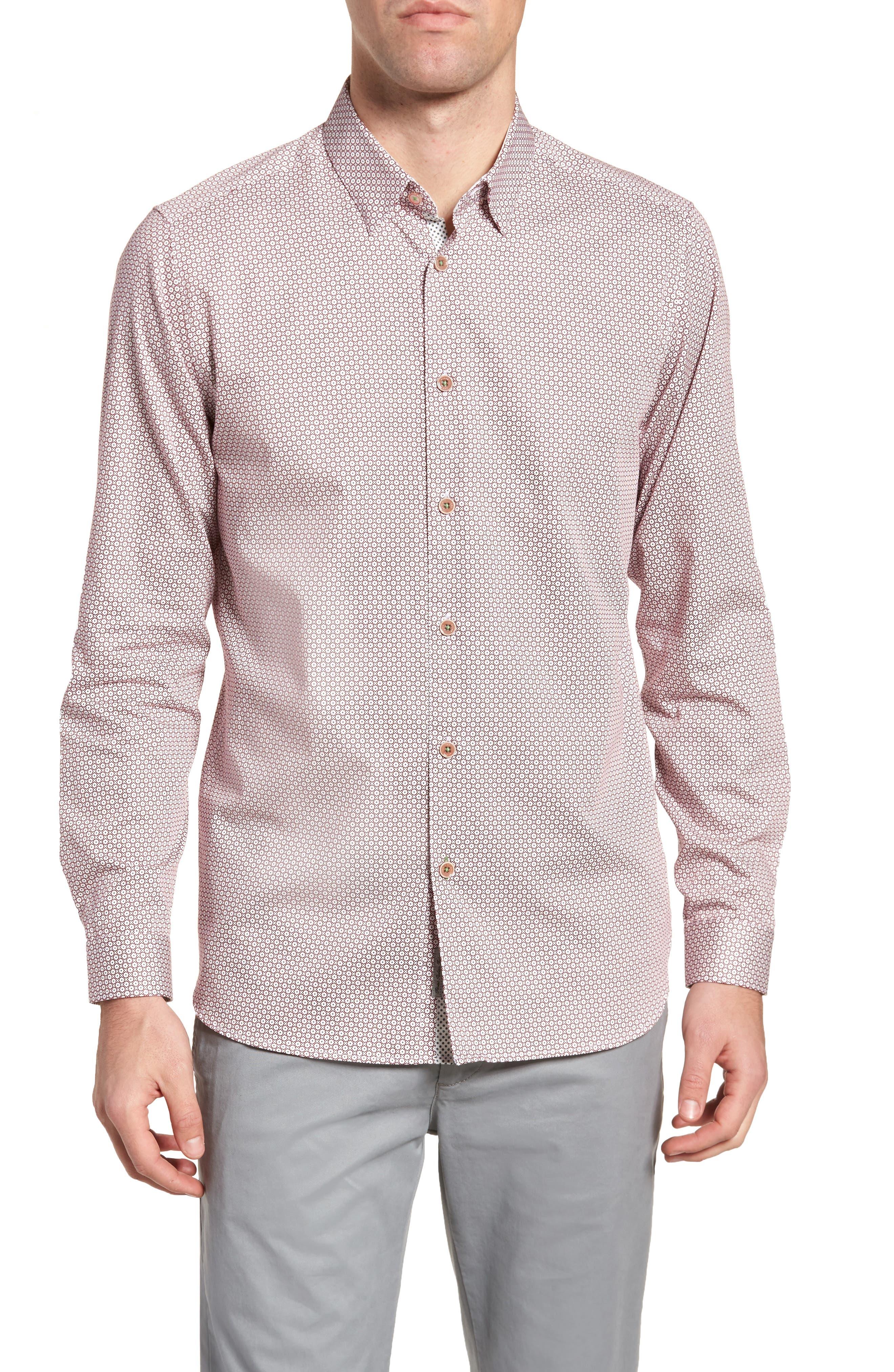 Holic Trim Fit Geometric Sport Shirt,                             Main thumbnail 2, color,