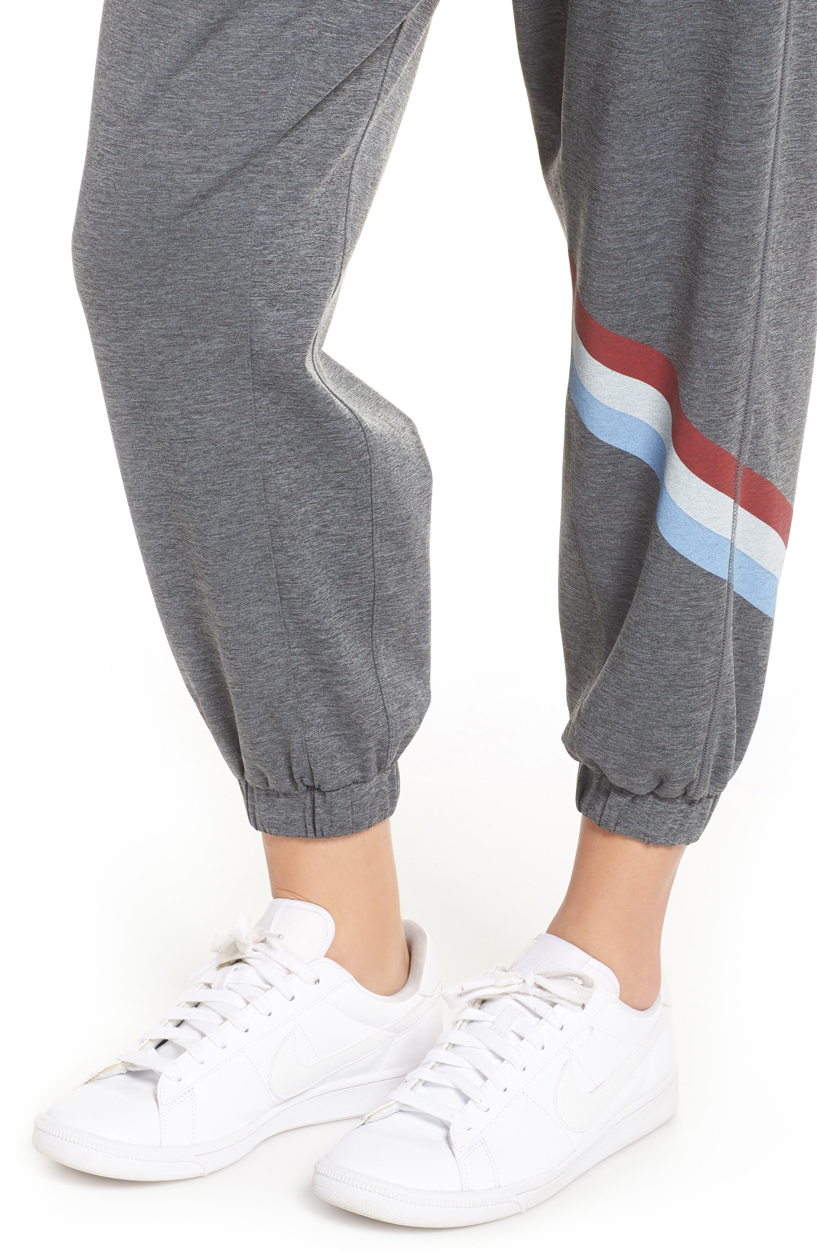 Cool Down Swirl Stripe Sweatpants,                             Alternate thumbnail 4, color,                             020