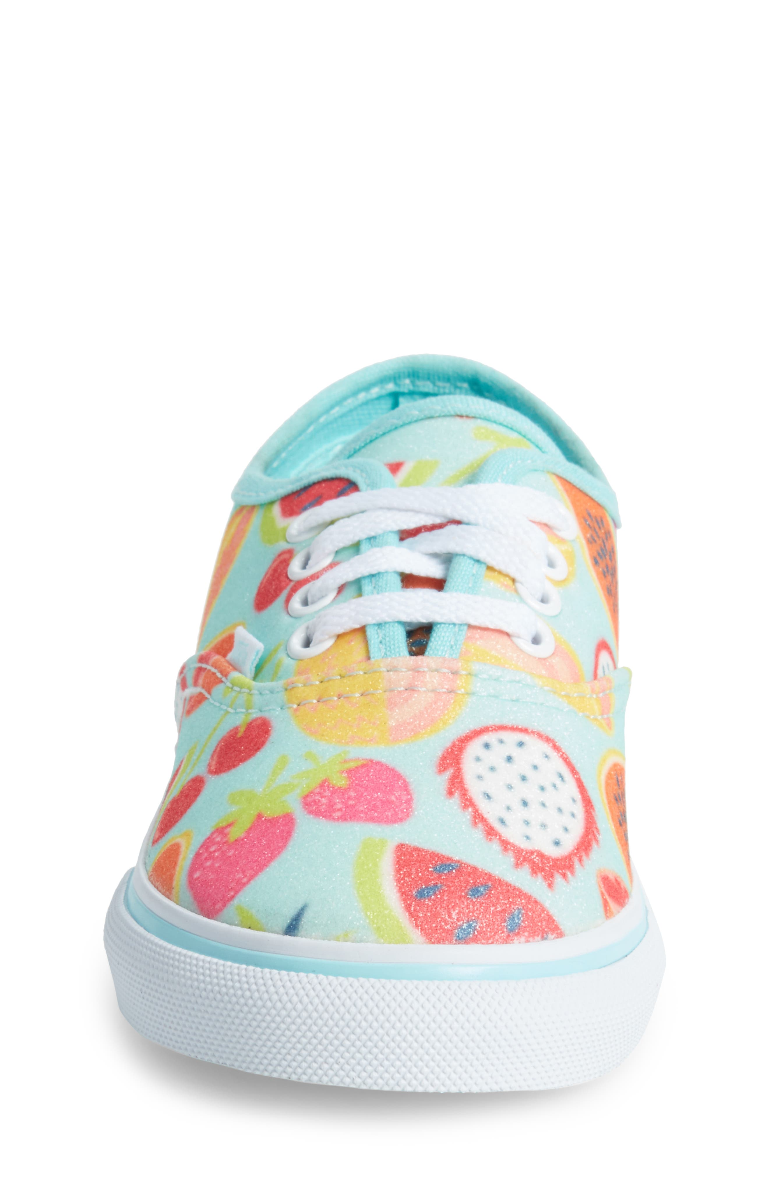 Authentic Glitter Fruits Sneaker,                             Alternate thumbnail 4, color,