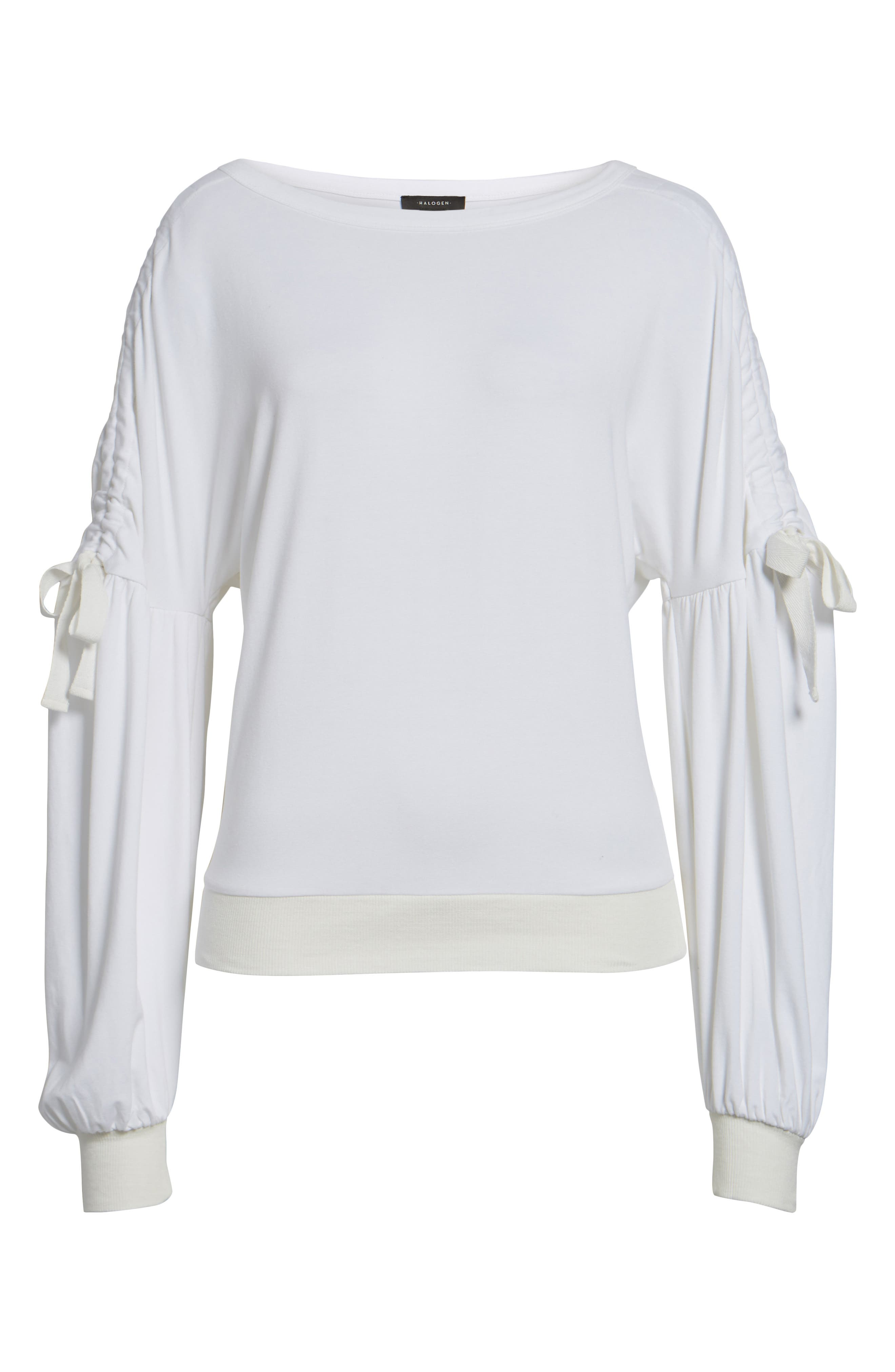 Ruched Bow Sleeve Top,                             Alternate thumbnail 22, color,